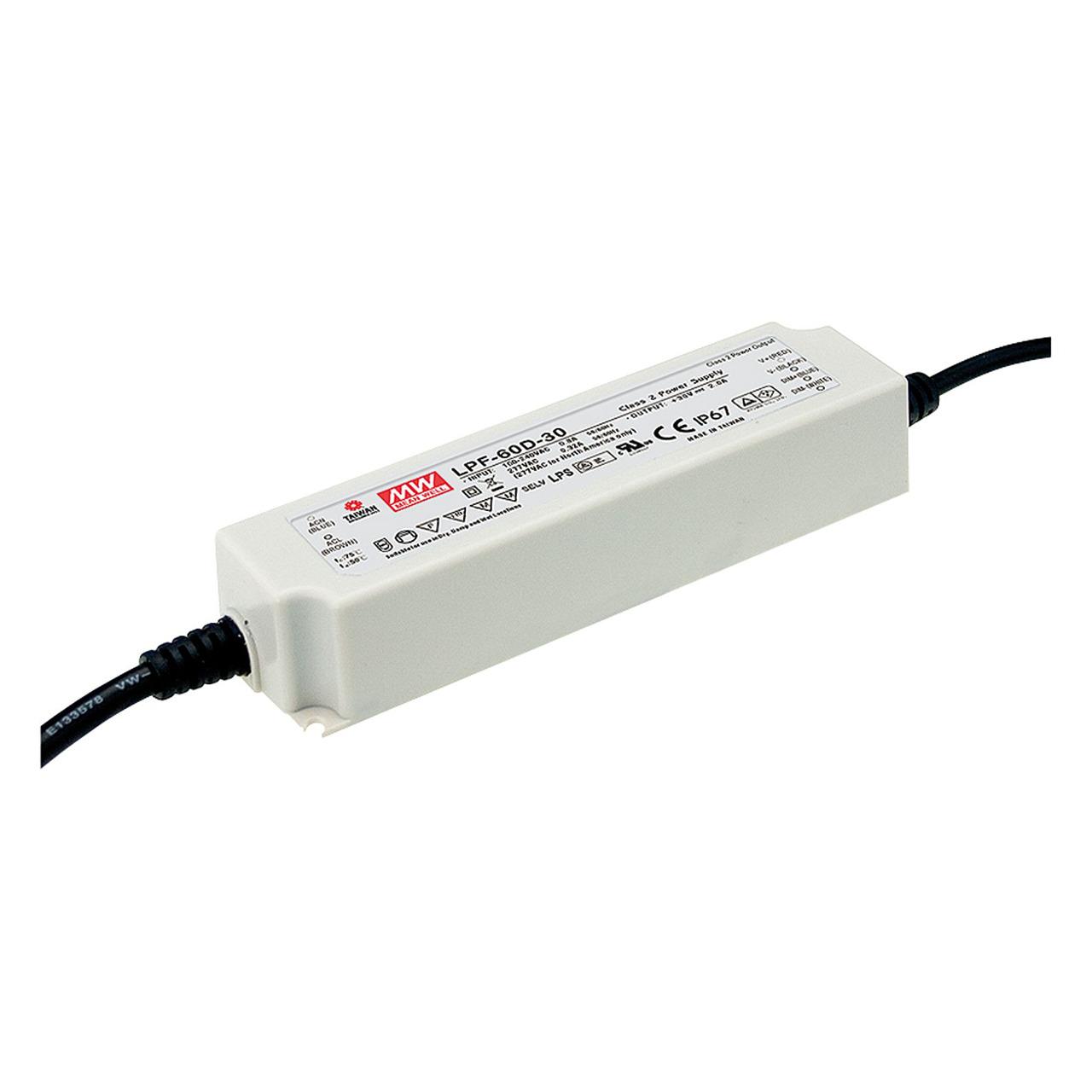 Mean Well Schaltnetzteil LPF-60-12- 60W- 12V- 5A- IP67