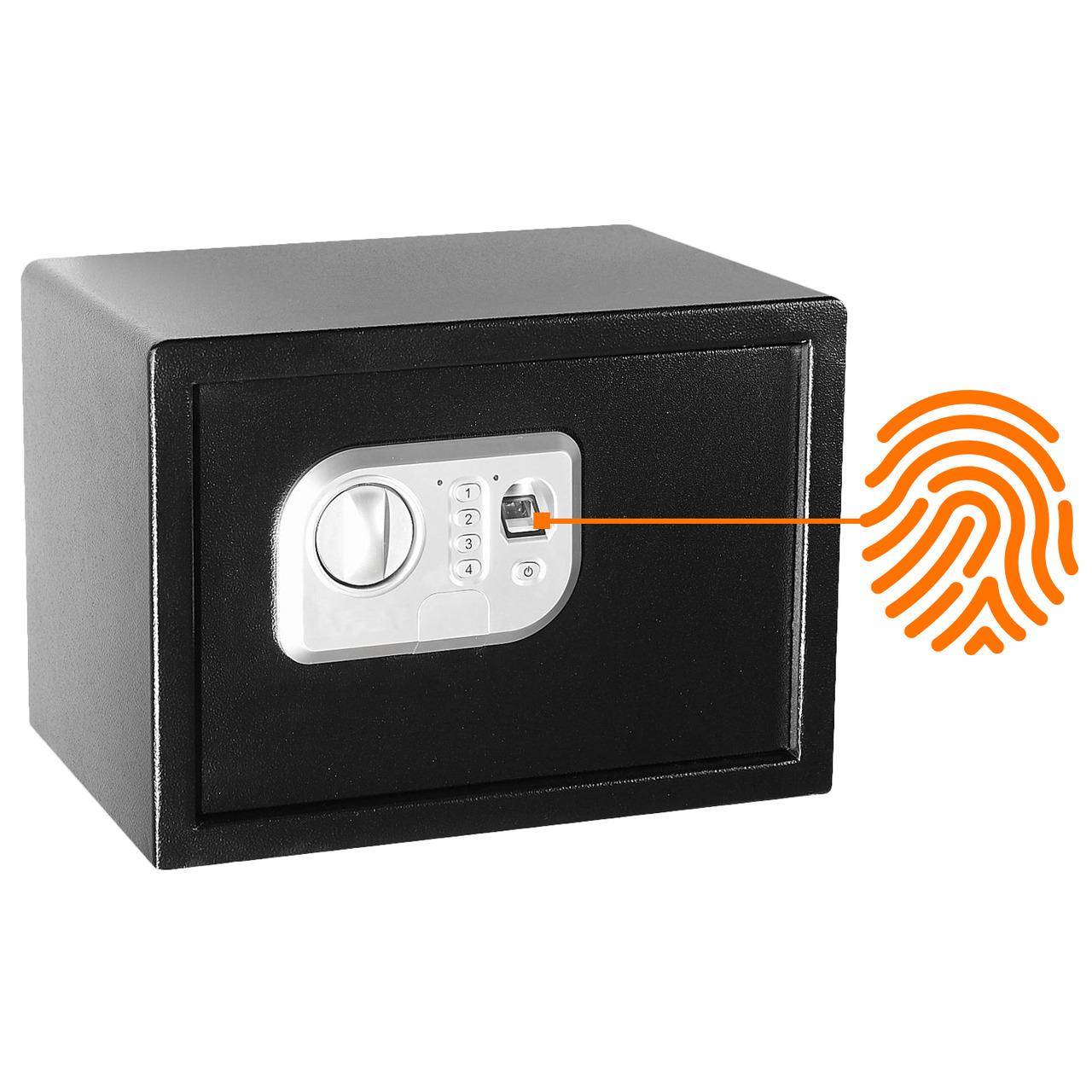 Megasat Fingerprint-Sicherheitstresor ST-25 FP- 16 l Volumen- mit Code-Eingabe und Notschlüssel