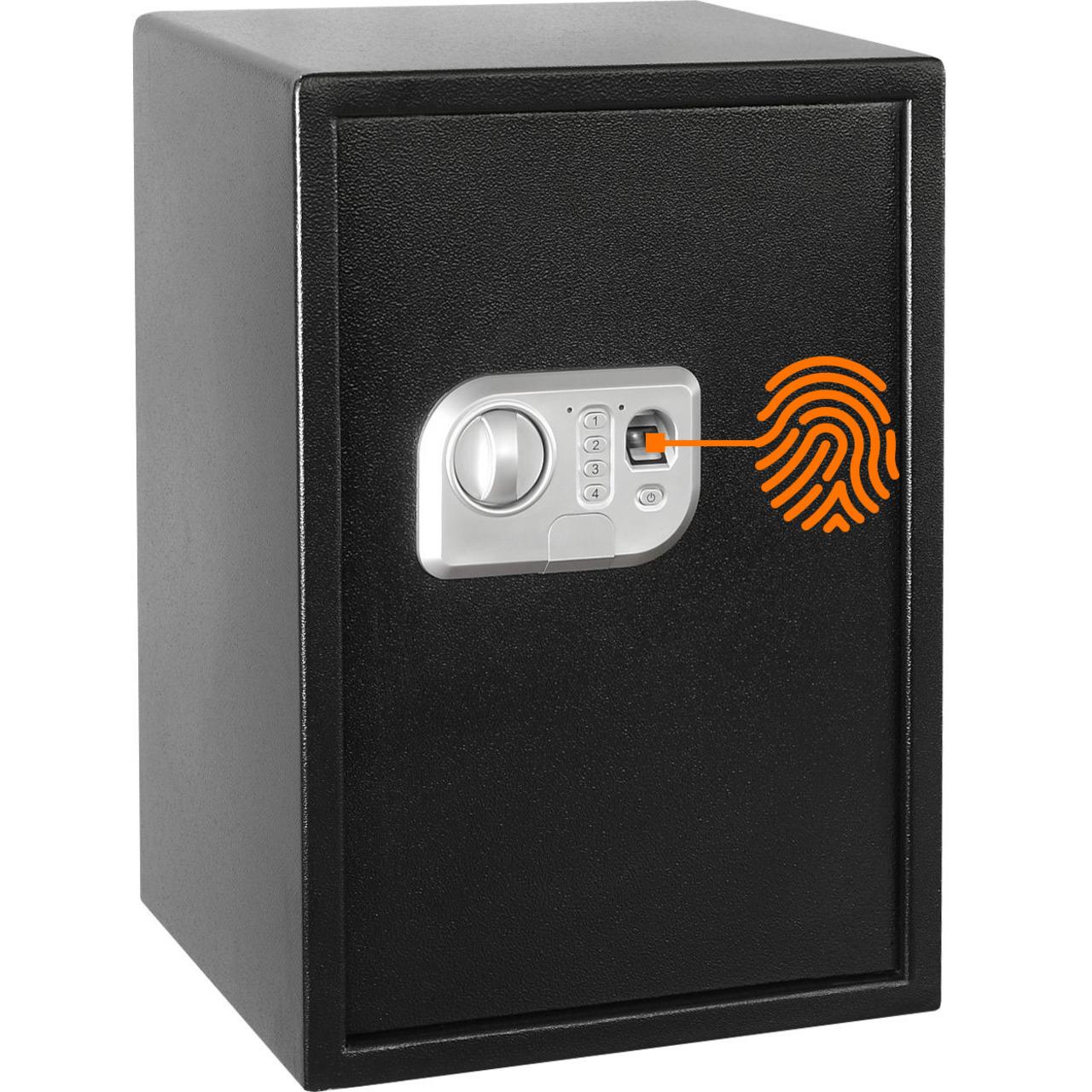 Megasat Fingerprint-Sicherheitstresor ST-50 FP- 42-5 l Volumen- mit Code-Eingabe und Notschlüssel