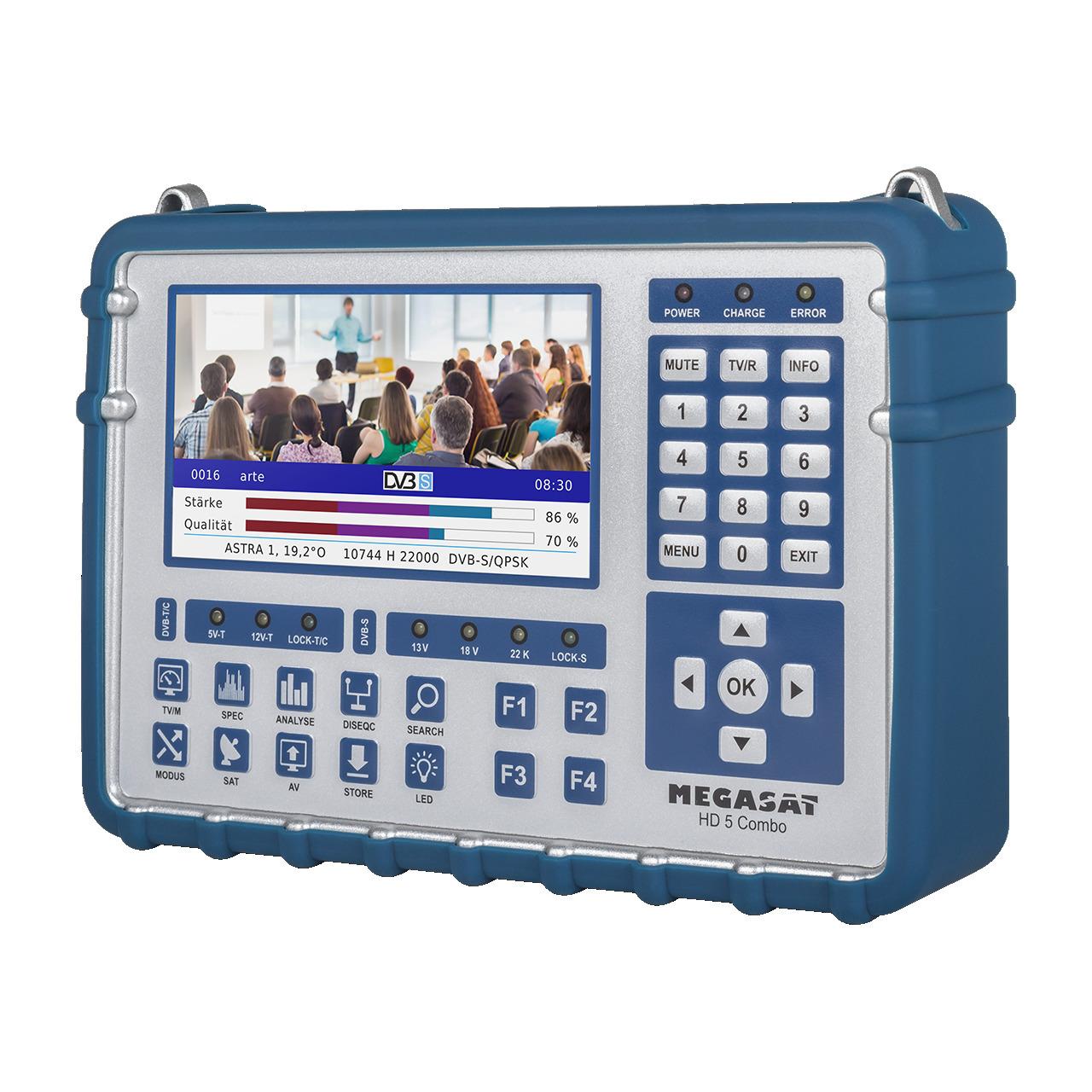 Megasat Sat-Messgerät HD 5 Combo- für DVB-S-S2-S2X- DVB-T-T2- DVB-C-C2- Live-TV-Modus