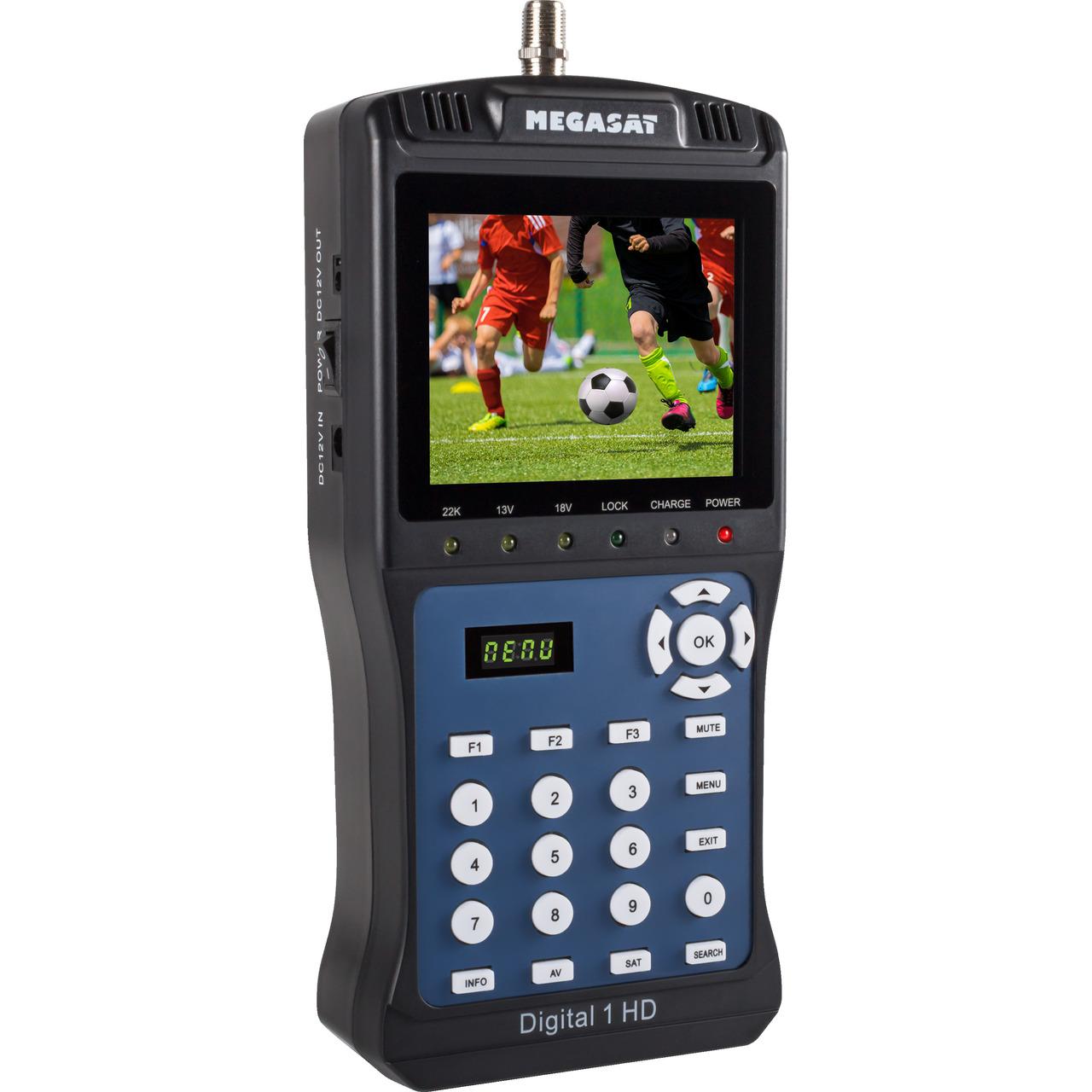 Megasat Satfinder - Messgerät Digital 1 HD- für DVB-S-S2- Messwertespeicher- Farbdisplay 8-9 cm