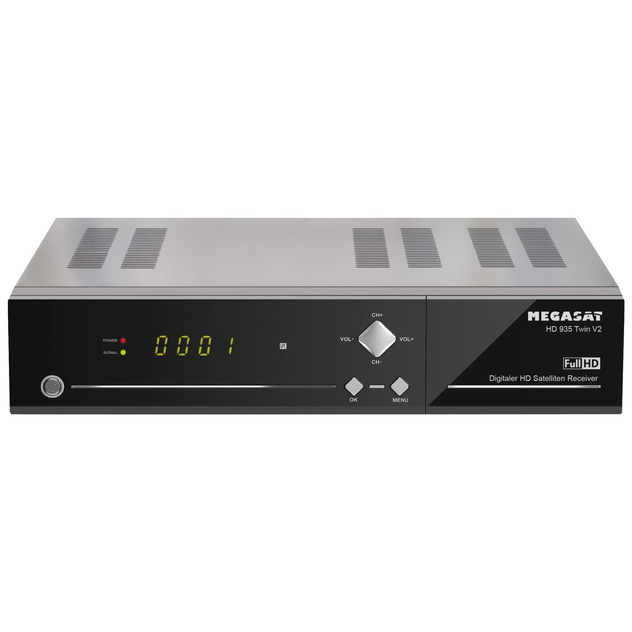 Megasat Twin-Sat-Receiver HD 935 Twin V2- mit 2-5undquot -Festplatteneinschub- 1080p-Full-HD- App-Steuerung