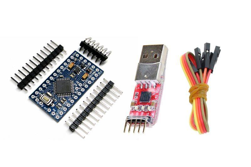 Mini Mega328P Pro Version mit CP2102 USB Wandler - 5V-16MHz - Arduino kompatibel