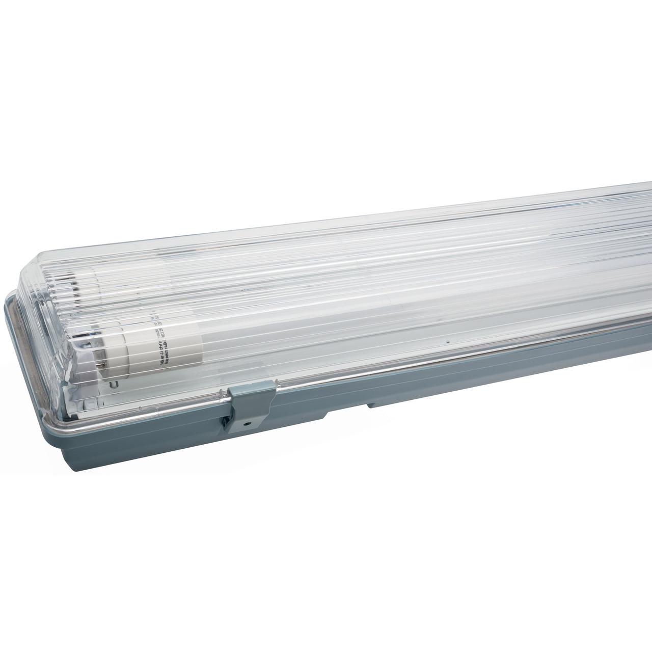 Müller Licht 24-W-LED-Feuchtraumwannenleuchte mit 2x12 W-Röhrenlampen- IP65