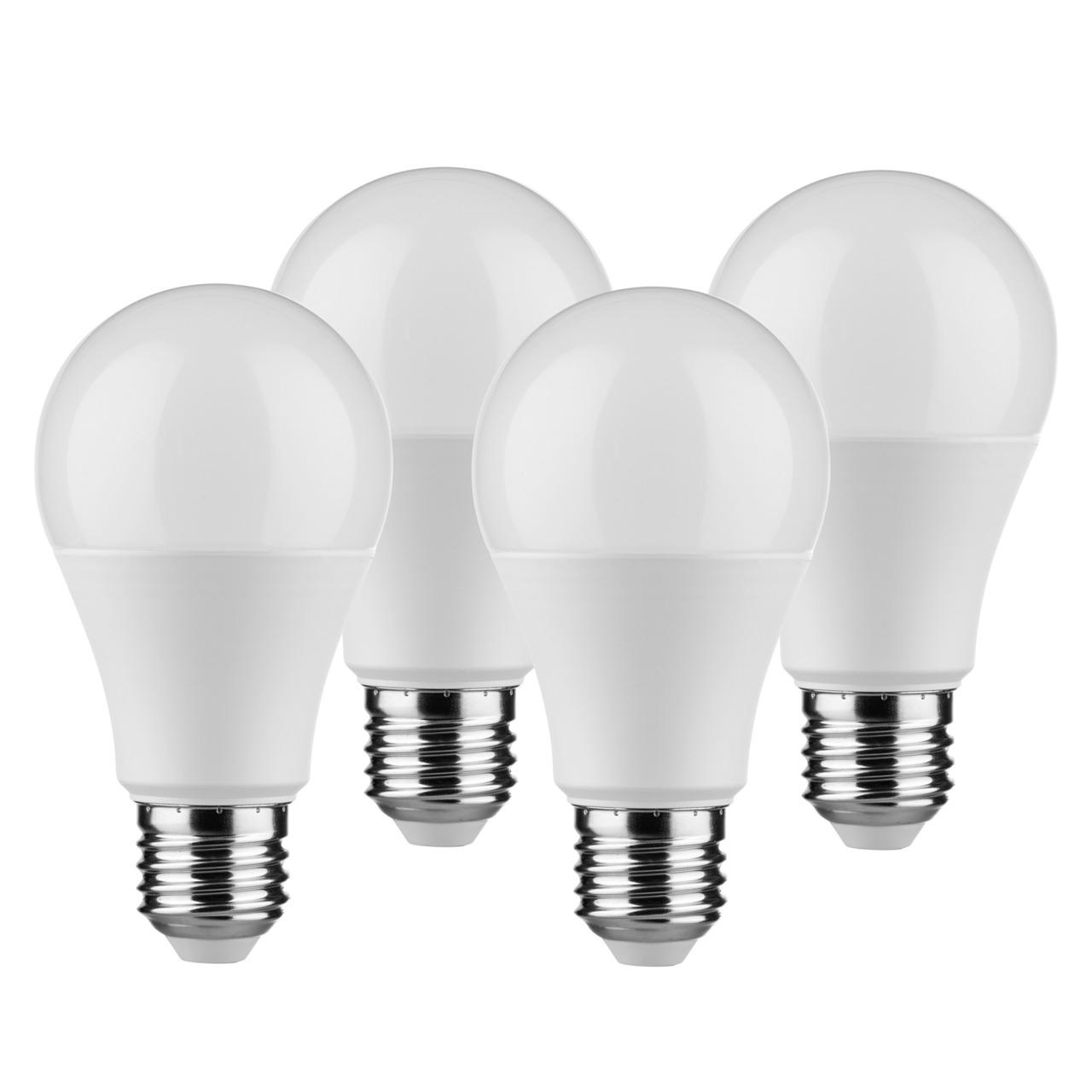 Mund-252 ller Licht 4er Pack 9-W-LED-Lampen E27- warmweiund-223 - 806 lm