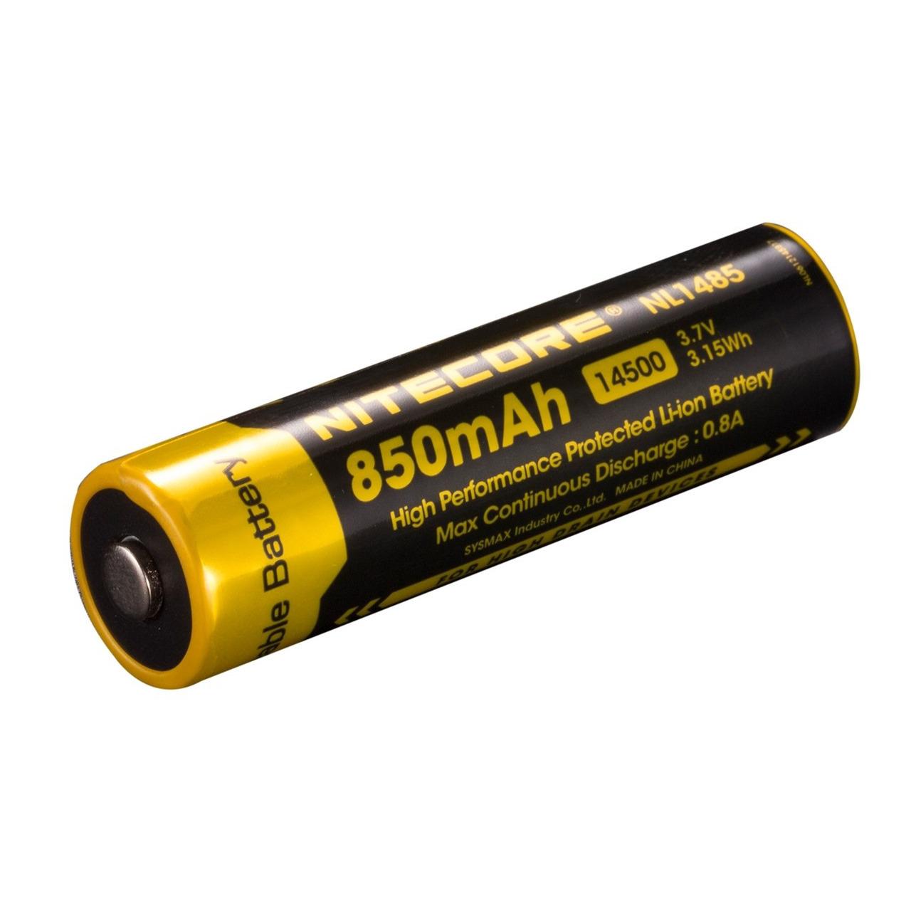 NiteCore Lithium Ion Akku 14500 850 mAh- NL 1485