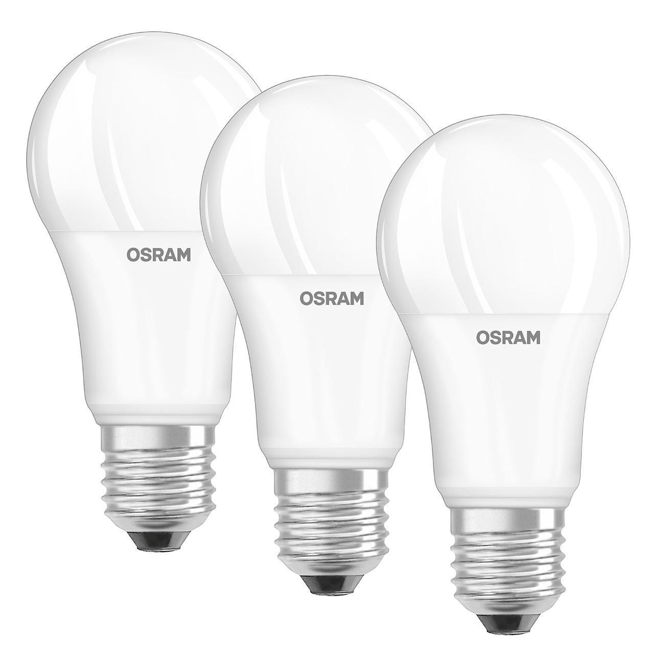 OSRAM 3er Set 13-W-Filament-LED-Lampe E27- neutralweiss- matt