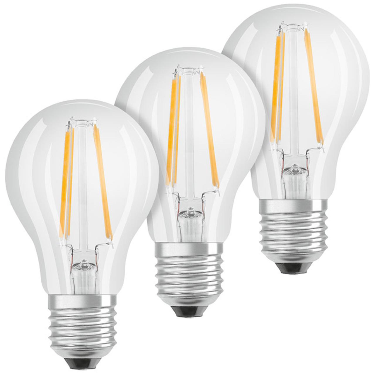 OSRAM 3er Set 7-W-LED-Lampe E27- dim to warm