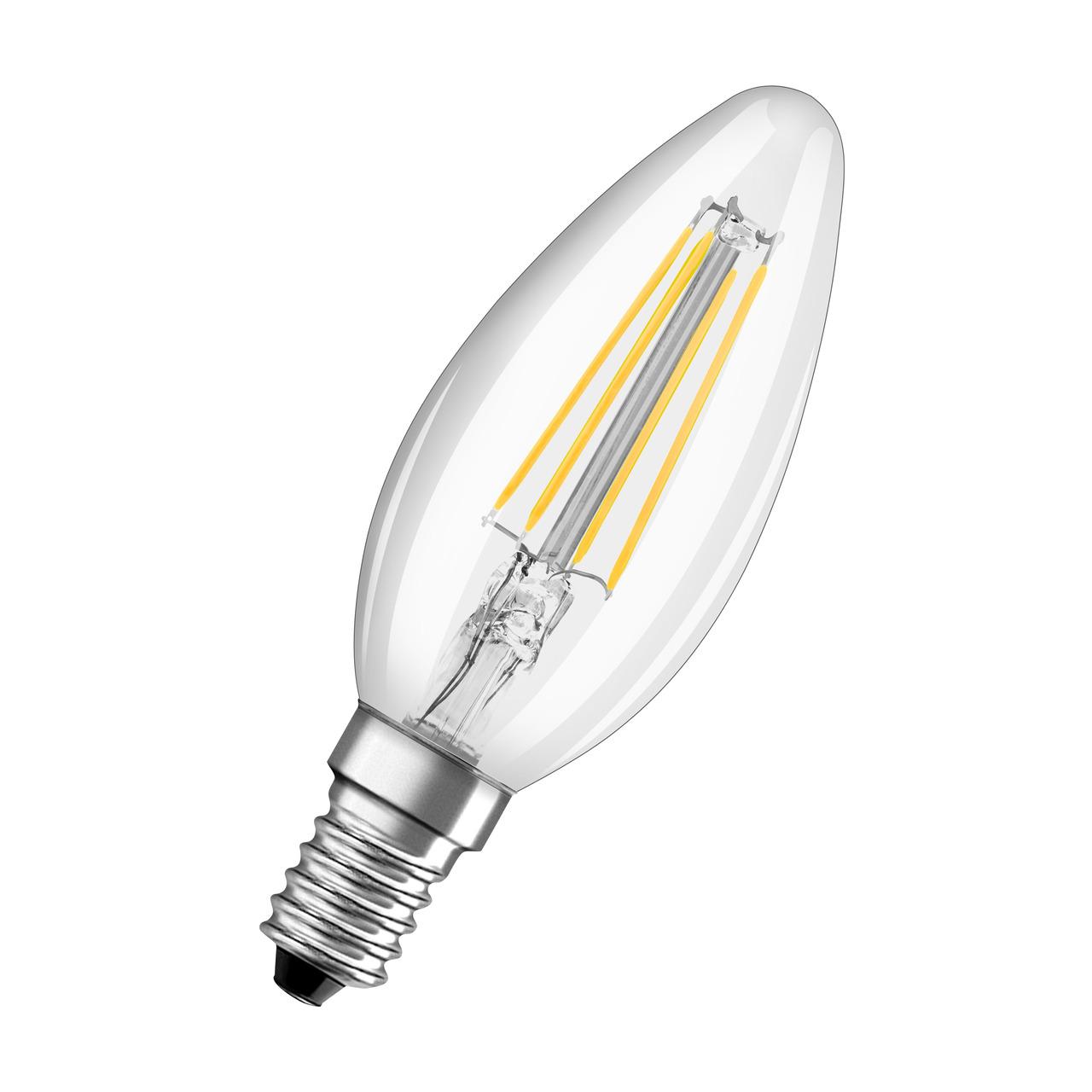 OSRAM 4-W-LED-Kerzenlampe- E14- 470 lm- warmweiss - neutralweiss- klar
