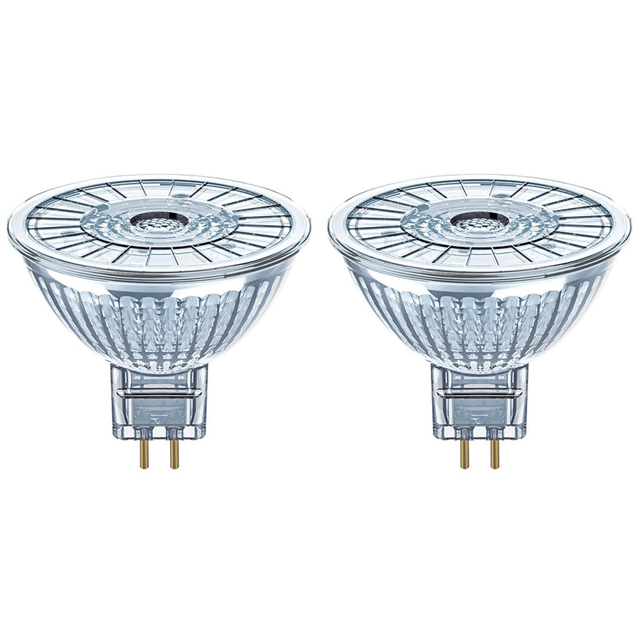 OSRAM LED MULTIPACK 2er Pack 3-8-W-GU5-3-LED-Lampen- warmweiss- 12 V