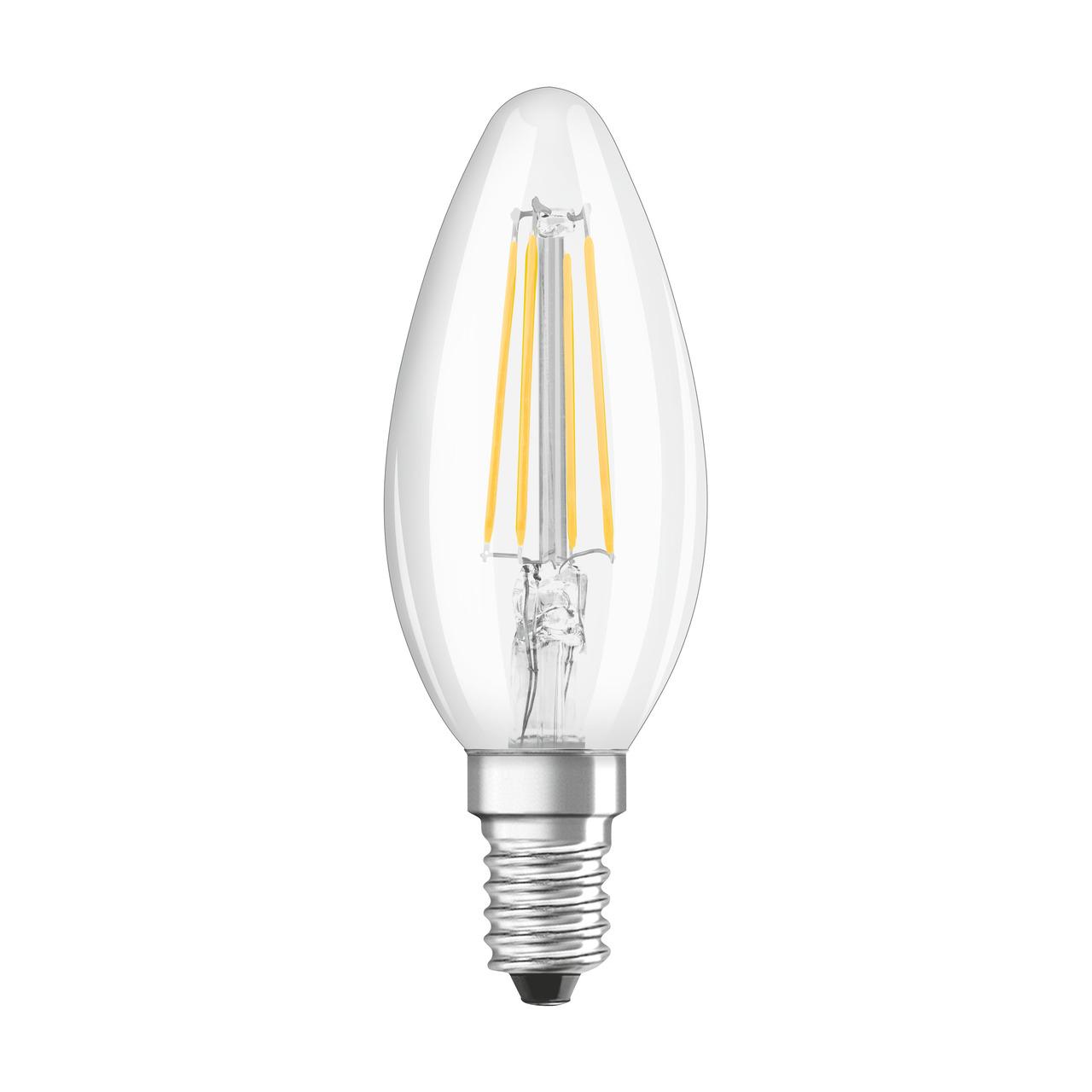 OSRAM LED STAR Plus 4-W-LED-Kerzenlampe E14- warmweiss- dimmbar per Lichtschalter