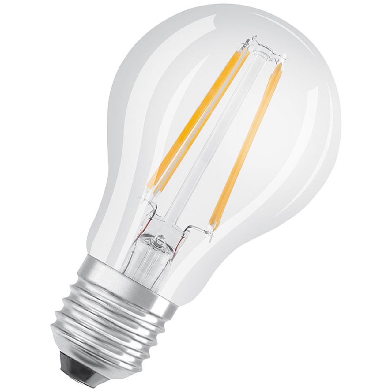 OSRAM LED STAR PLUS 7-W-Filament-LED-Lampe E27 mit GlowDim-Technologie- warmweiss