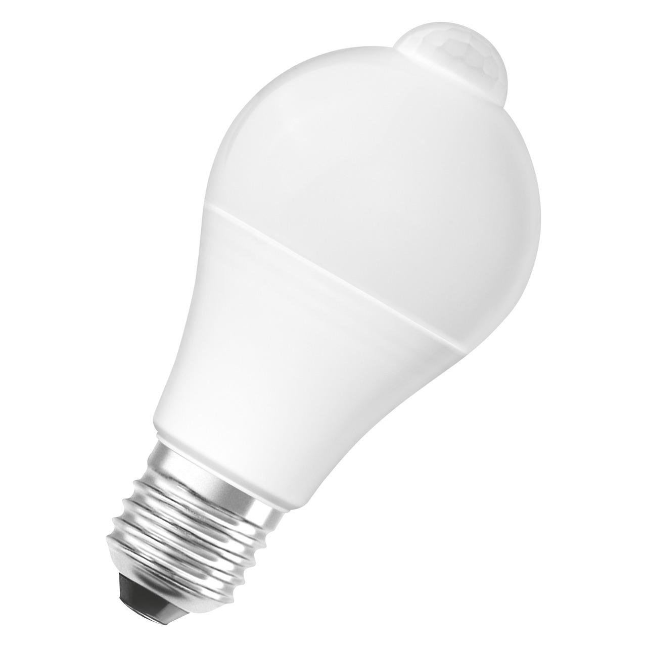 OSRAM LED STAR PLUS MOTION 9-W-Sensor-LED-Lampe E27 mit PIR-Bewegungsmelder- warmweiss