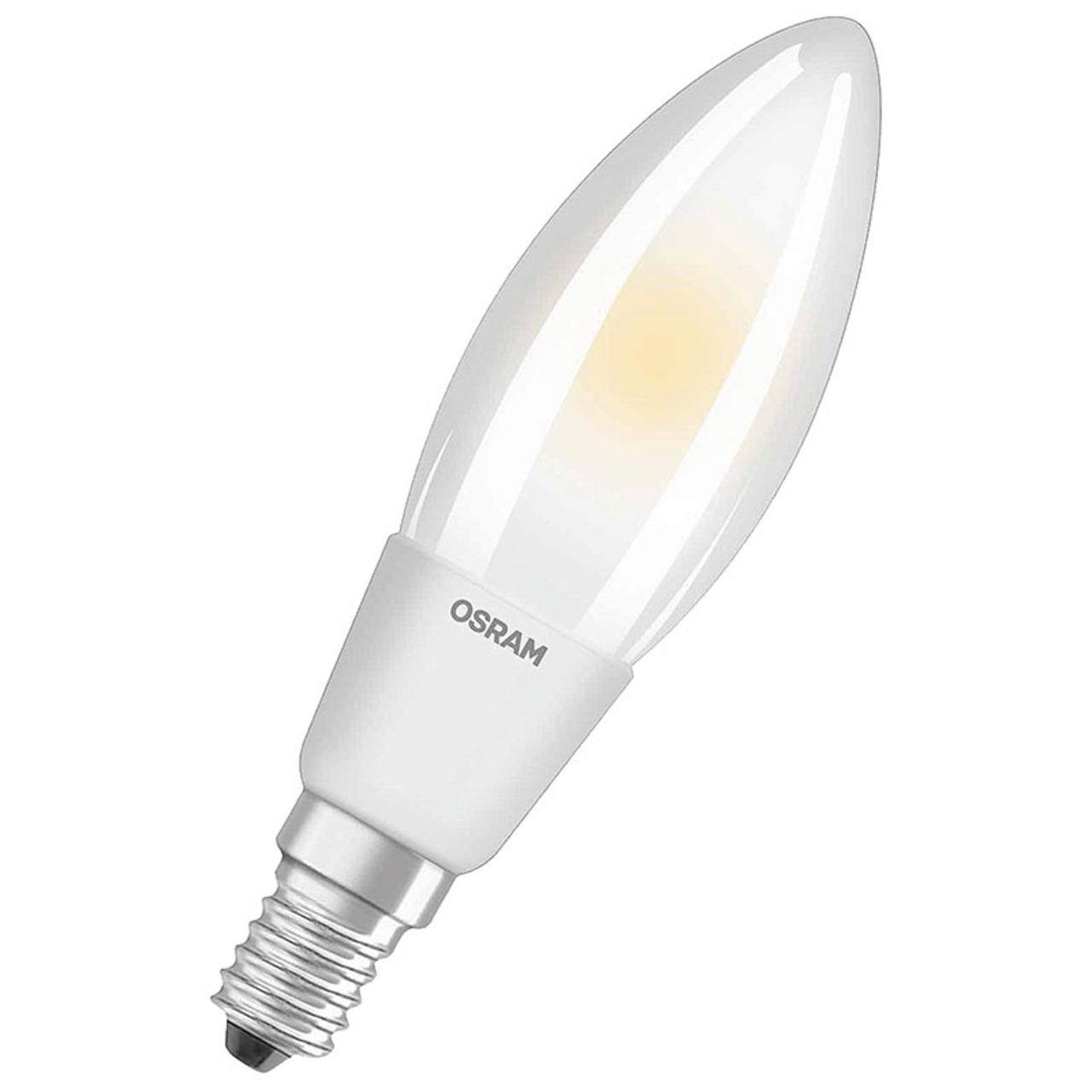 OSRAM LED SUPERSTAR 6-5-W-Filament-LED-Kerzenlampe E14- warmweiss- matt- dimmbar