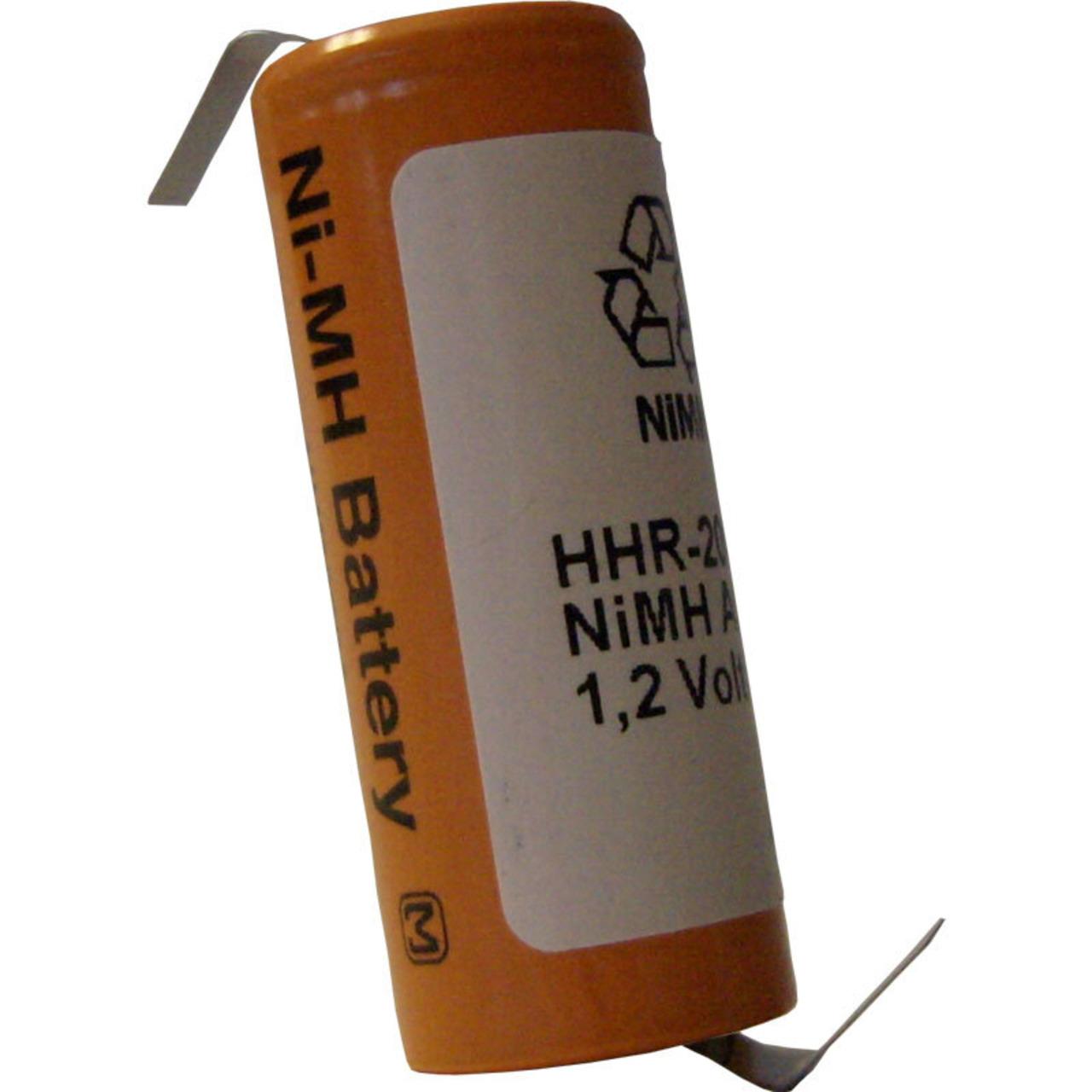 Panasonic NiMH-Zelle mit Lötfahne HHR-200AB01-1Z- 2000 mAh