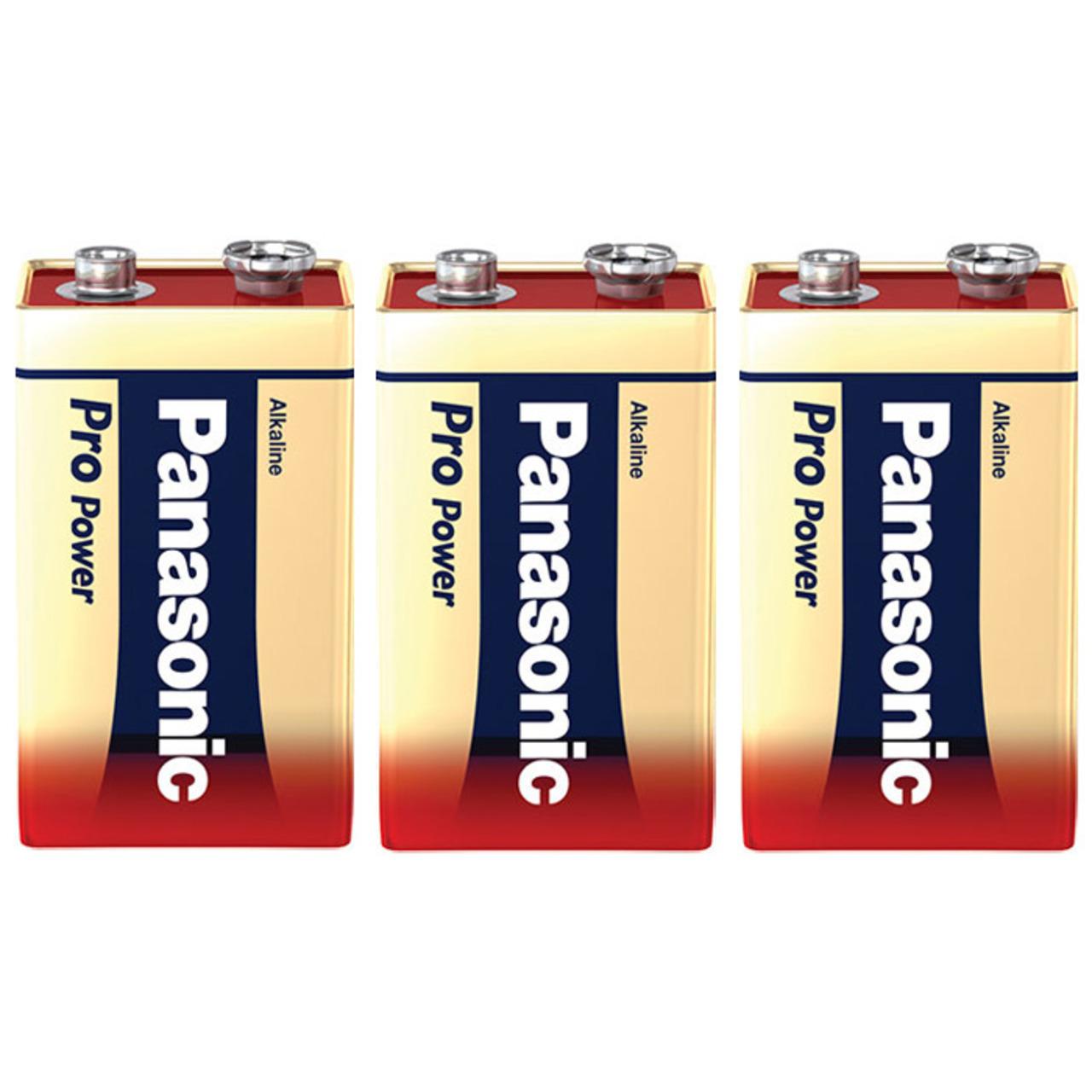 Panasonic Pro Power Alkaline Batterie- 9-V-Block- 3er Pack