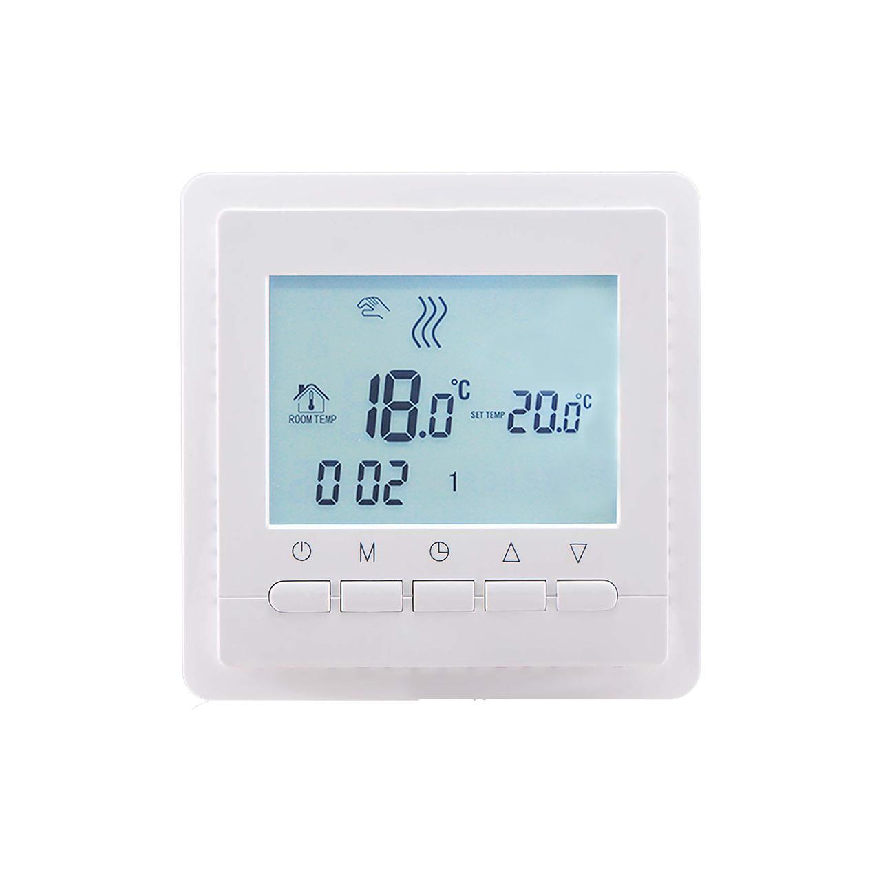 Perobe Digitaler Fussbodentemperaturregler mit Bodenfühler mit Zeitschaltuhr
