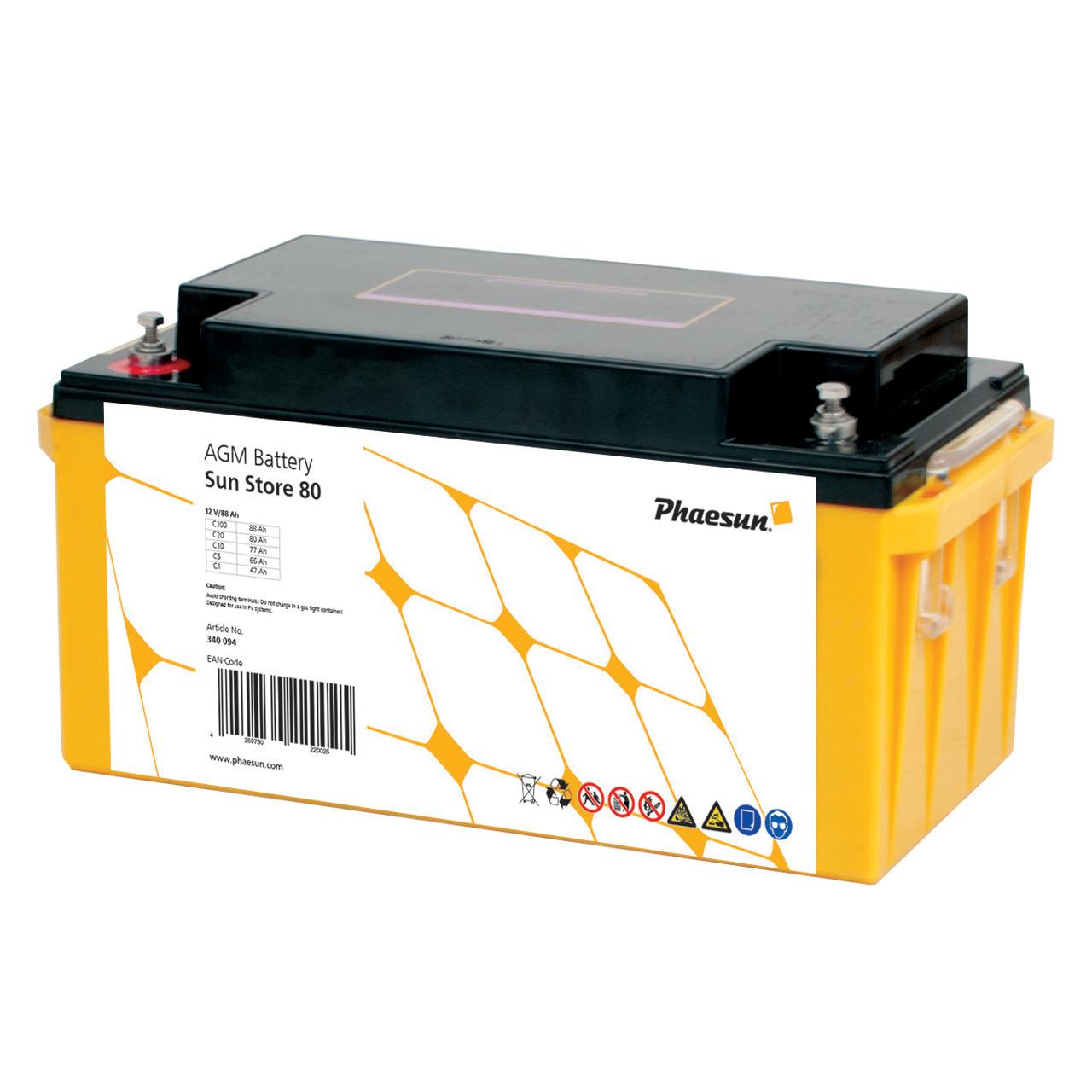 Phaesun Blei-AGM-Akku Sun Store 80- 12 V- 90 Ah