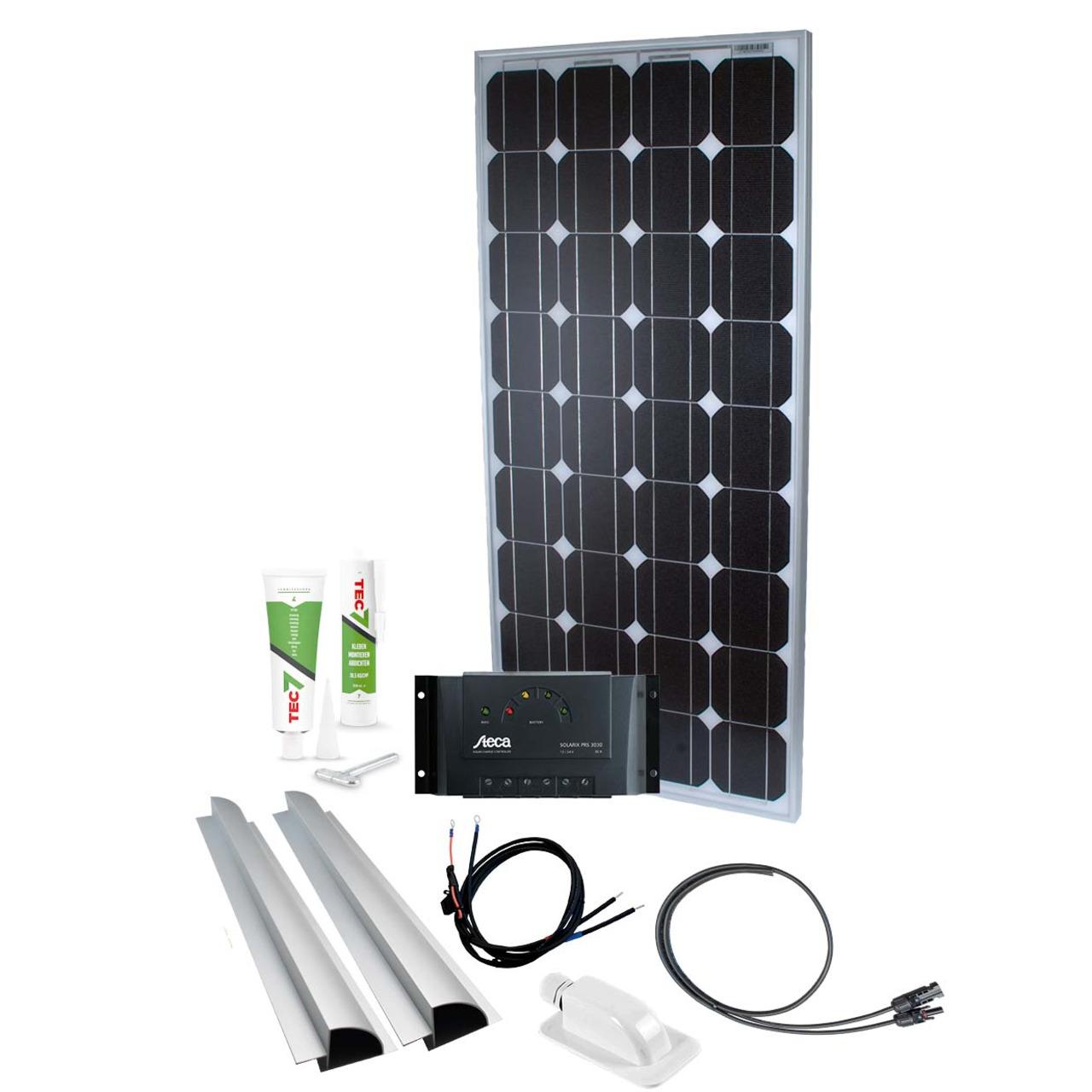 Phaesun Solar Komplett-Set Caravan Kit Base Camp One 100 W- 12 V inkl- 15 A Solarladeregler