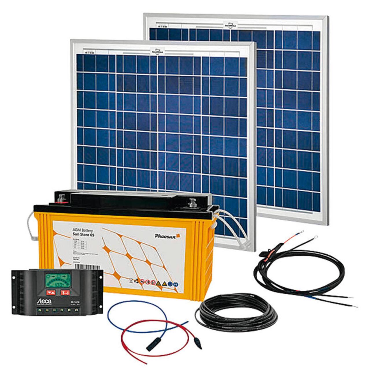 Phaesun Solar Komplett-Set Solar Rise Two 2-0- 100 W- 12 V