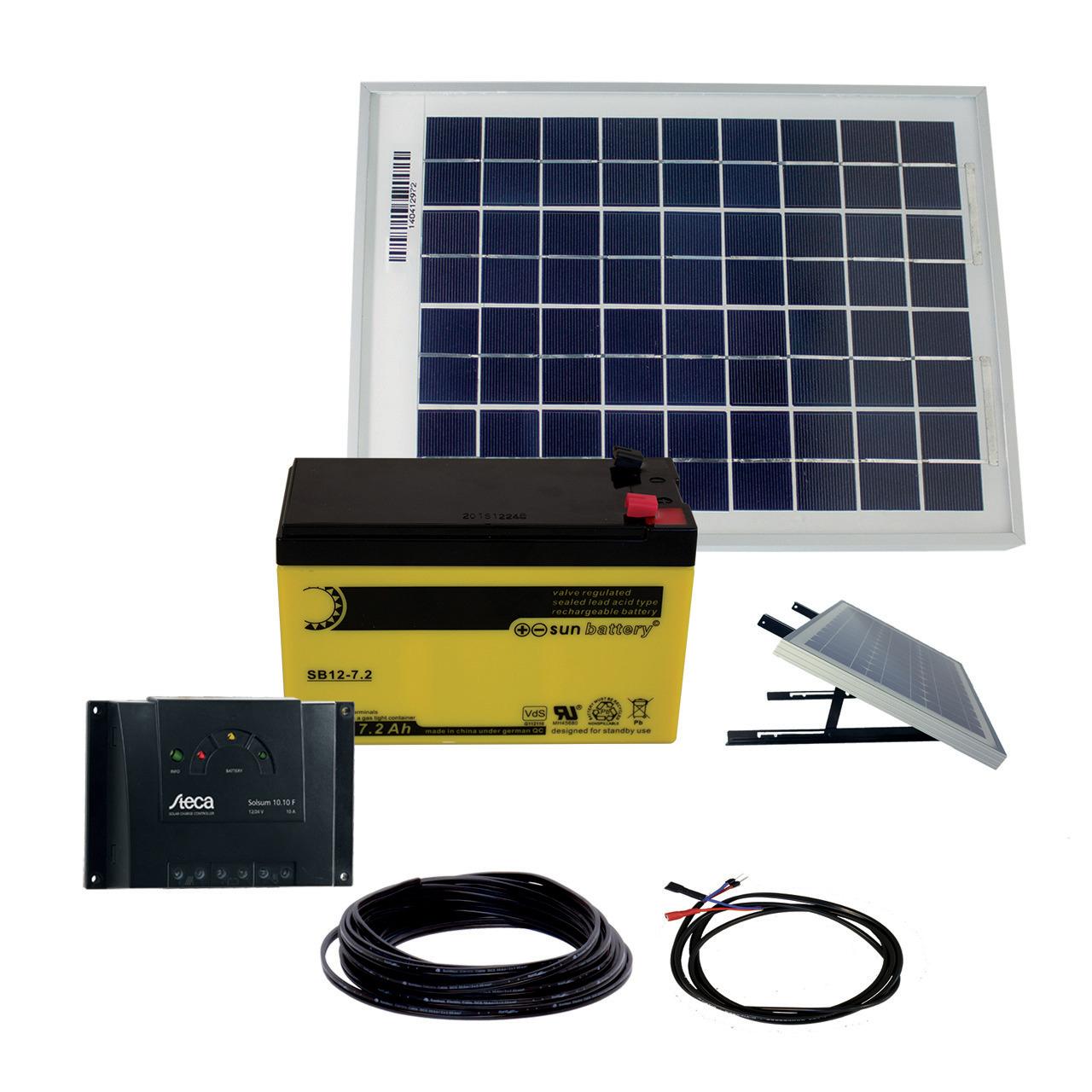 Phaesun Solarstrom-Set mit Akku-  10 W inkl- 6 A Solarladeregler