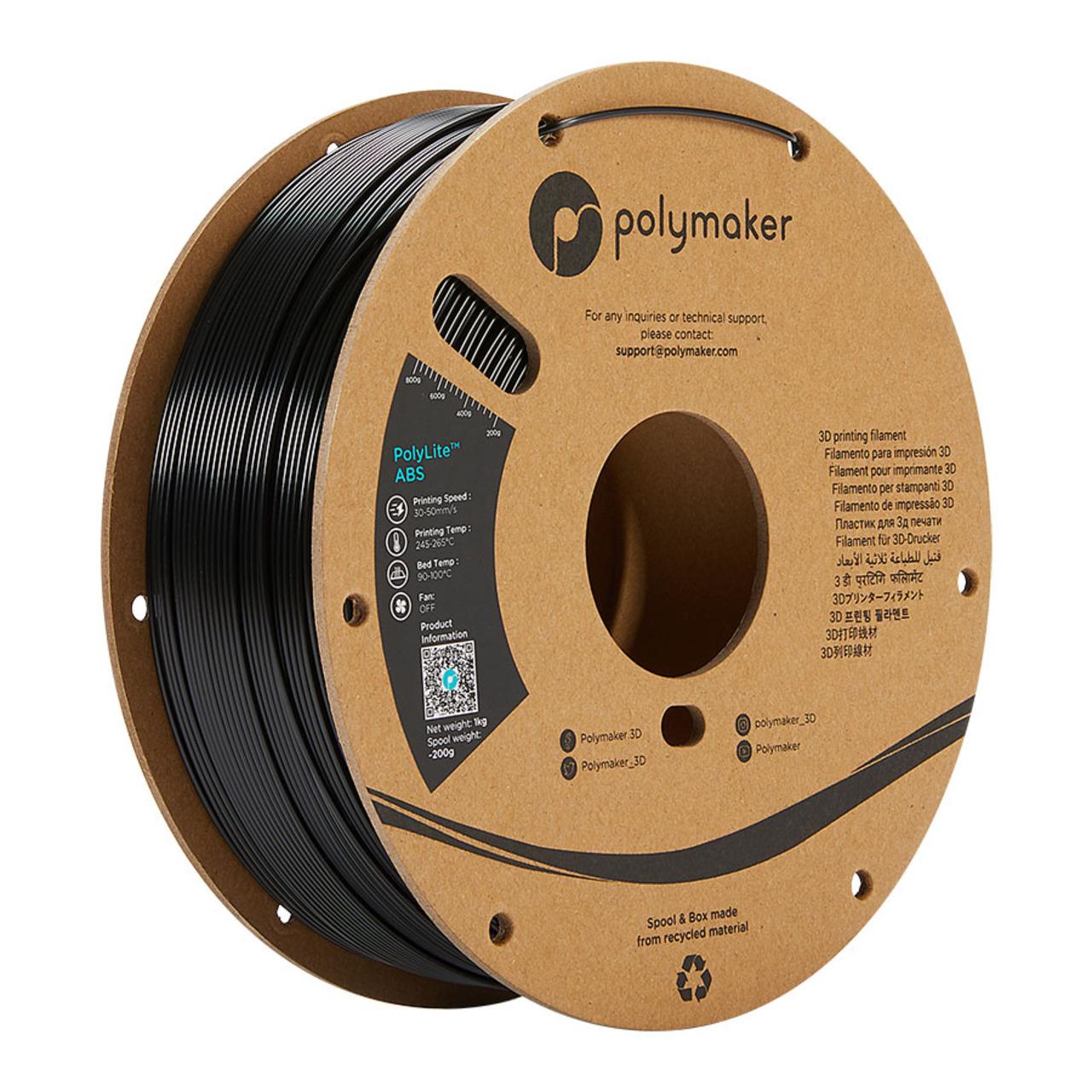 Polymaker Polylite ABS-Filament- schwarz- 1-75 mm- 1 kg