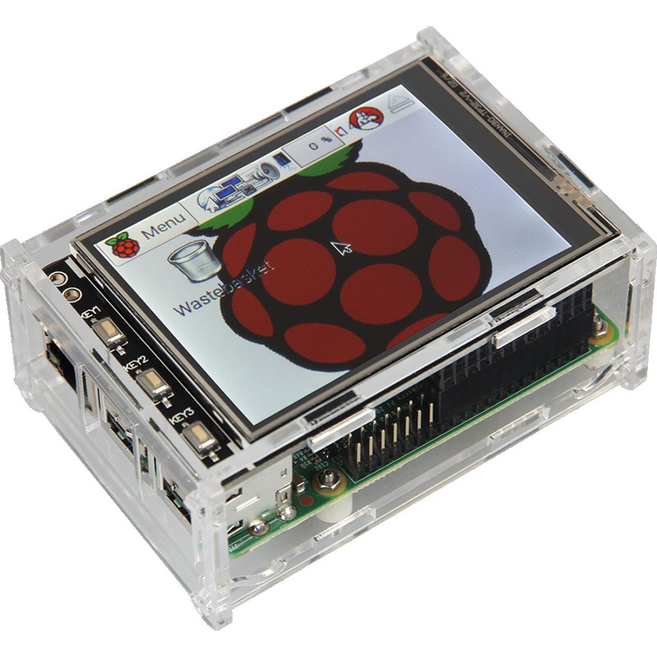 Raspberry Pi 3B+ Touch-PC- 8-9 cm (3-5undquot ) Display- komplett montiert und betriebsbereit