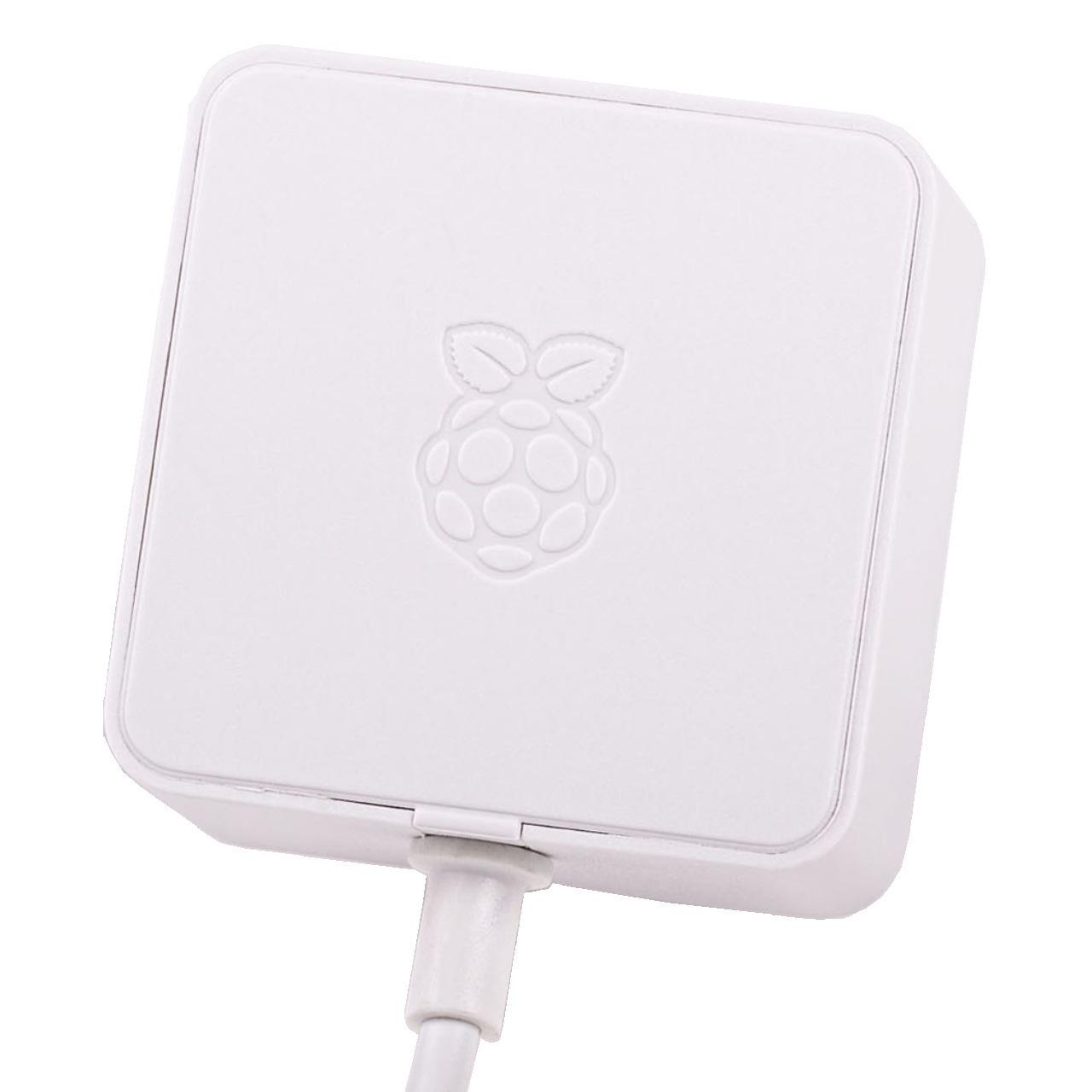Raspberry Pi 4 USB-Netzteil Typ C- 5-1 V 3A- 1-5 m Kabel- weiss