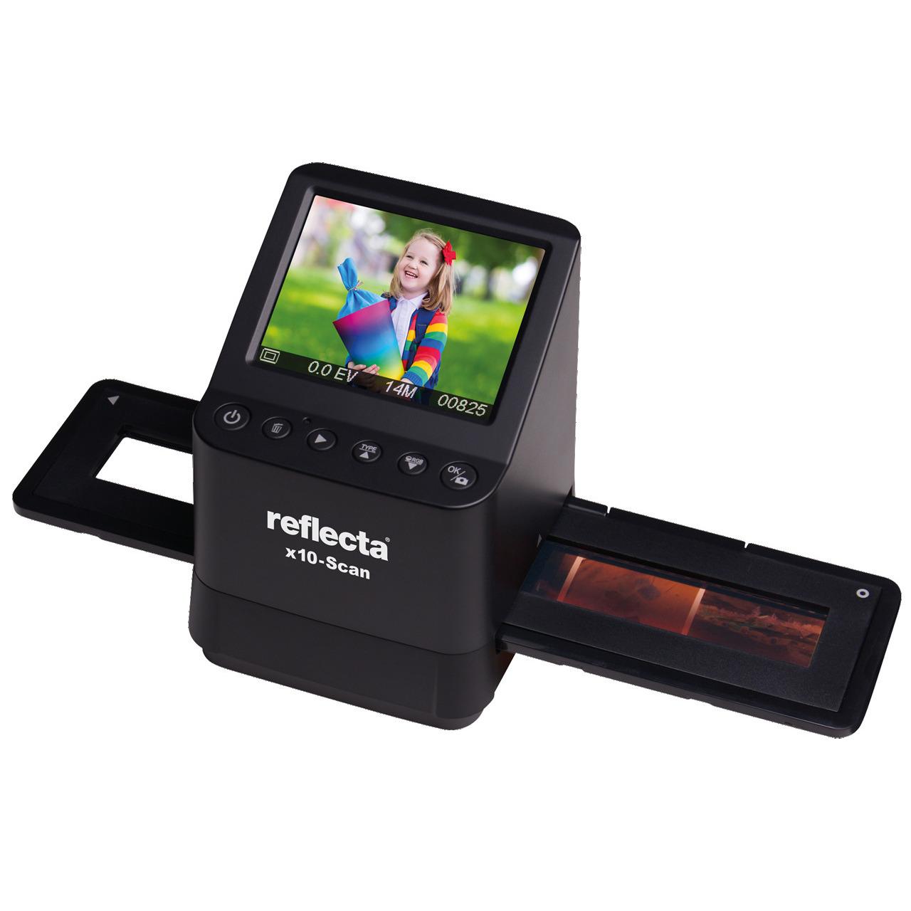 reflecta Dia-Negativscanner x10-Scan- 14 Megapixel- Vorschaudisplay 8-9 cm (3-5undquot )- RGB-Farbanpasung