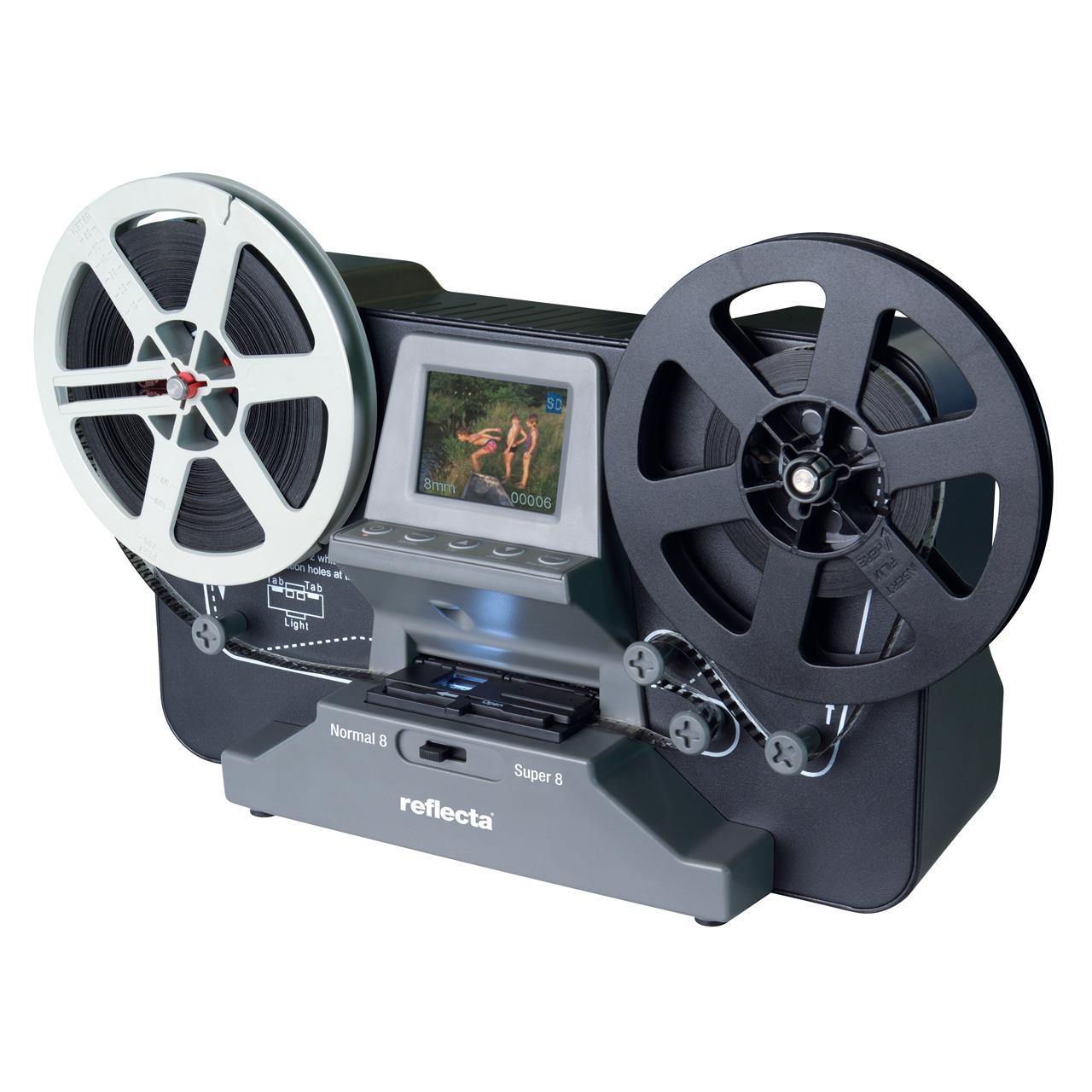 reflecta Film-Scanner Super 8 - Normal-8- speichert auf SD-Karte- 6-1-cm-Vorschaudisplay