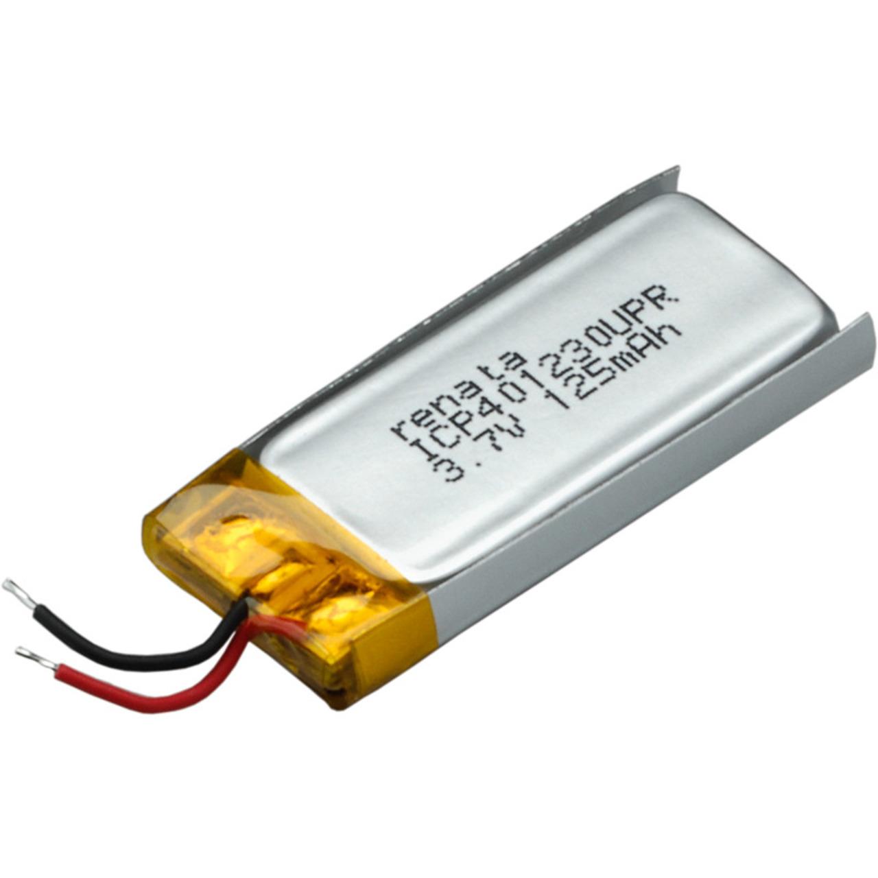 Renata Lithium Polymer Akku mit Schutzschaltung ICP401230UPR 3-7 V 130 mAh