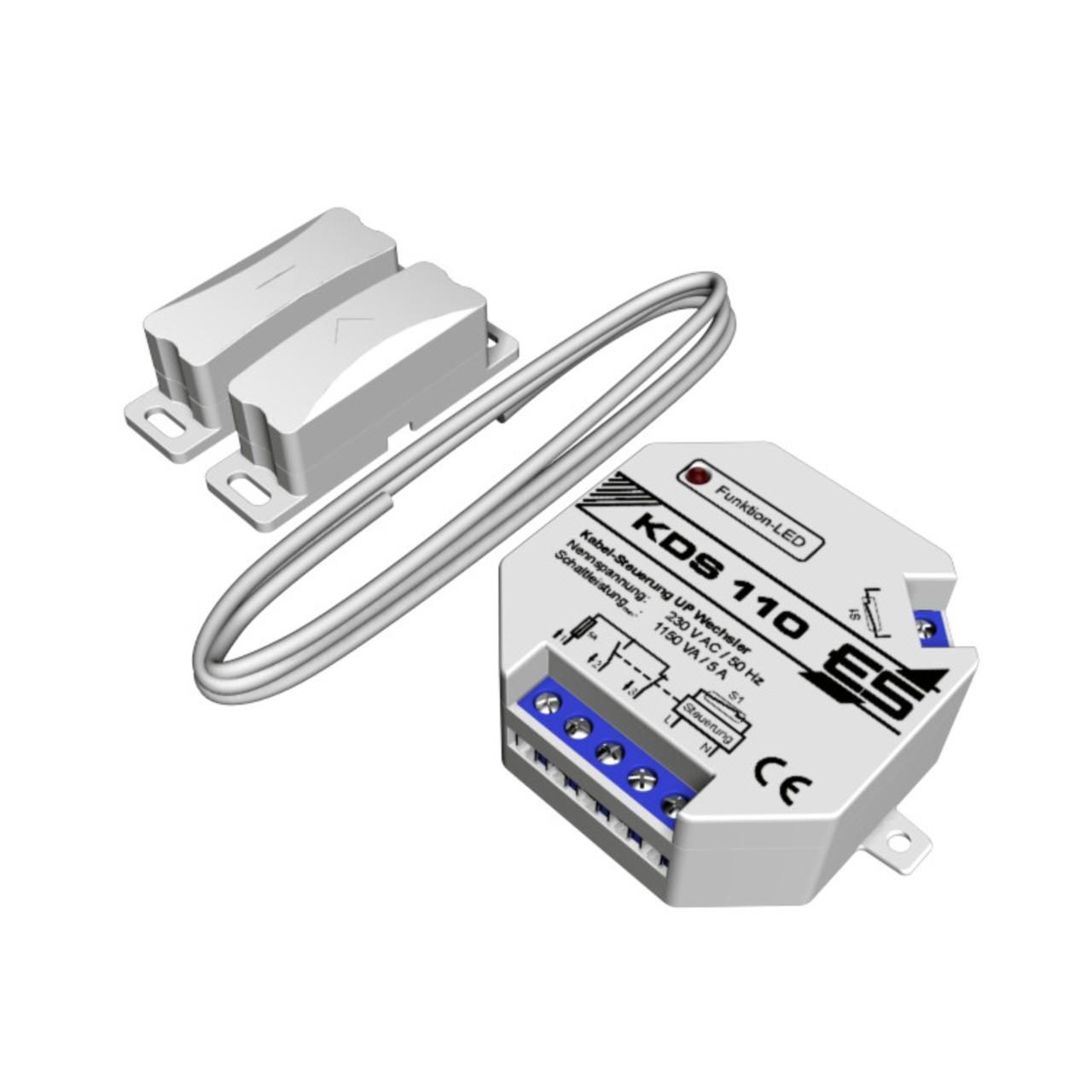 Schabus Kabel-Dunstabzugssteuerung KDS 110 mit 6 m Kabel- Einbauversion