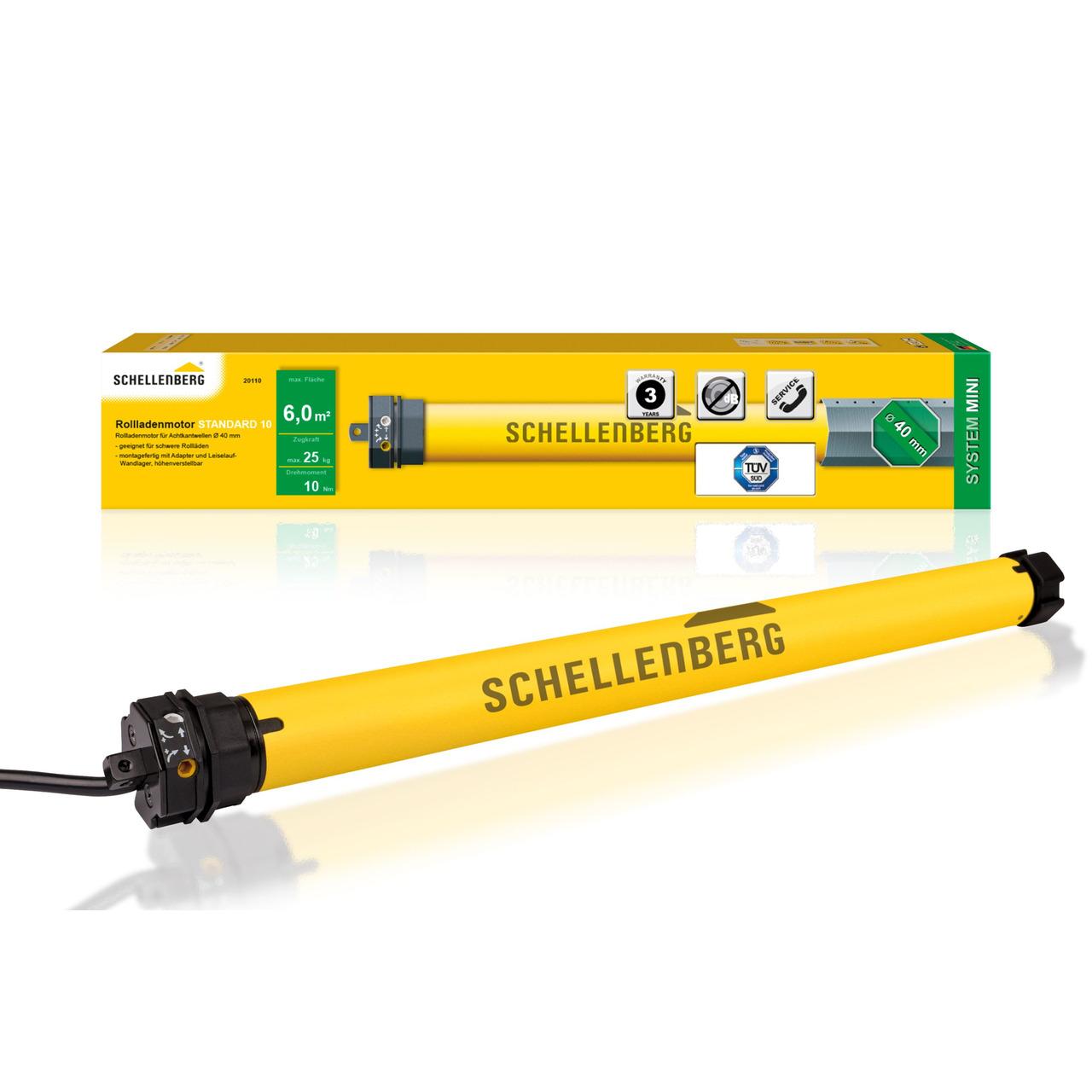 Schellenberg Mechanischer Rohrmotor STANDARD für SW40- 10 Nm