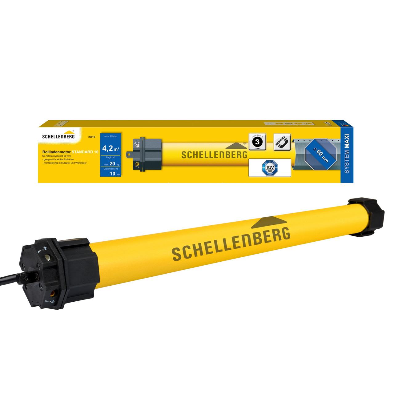 Schellenberg Mechanischer Rohrmotor STANDARD für SW60- 10 Nm