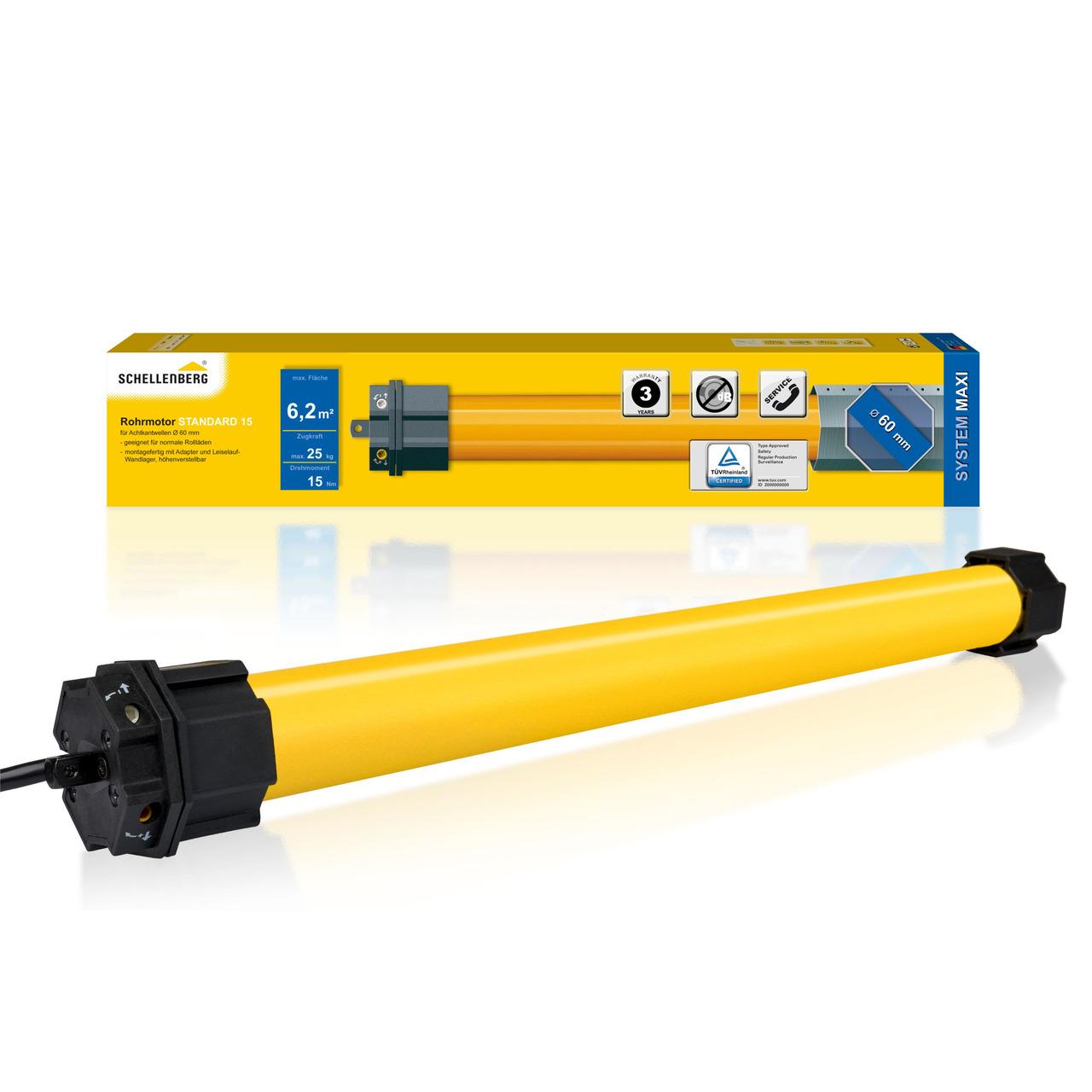 Schellenberg Mechanischer Rohrmotor STANDARD für SW60- 15 Nm