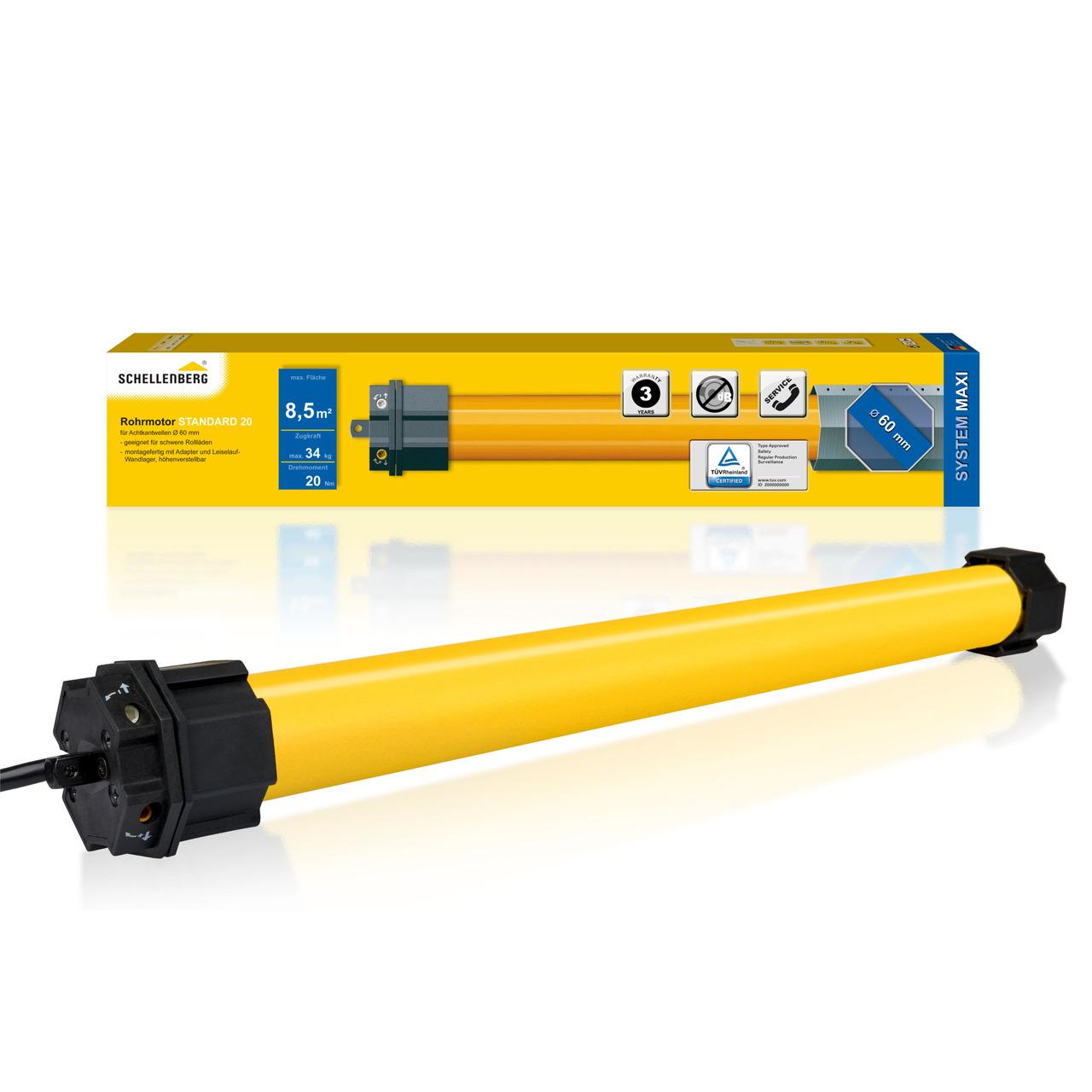 Schellenberg Mechanischer Rohrmotor STANDARD für SW60- 20 Nm
