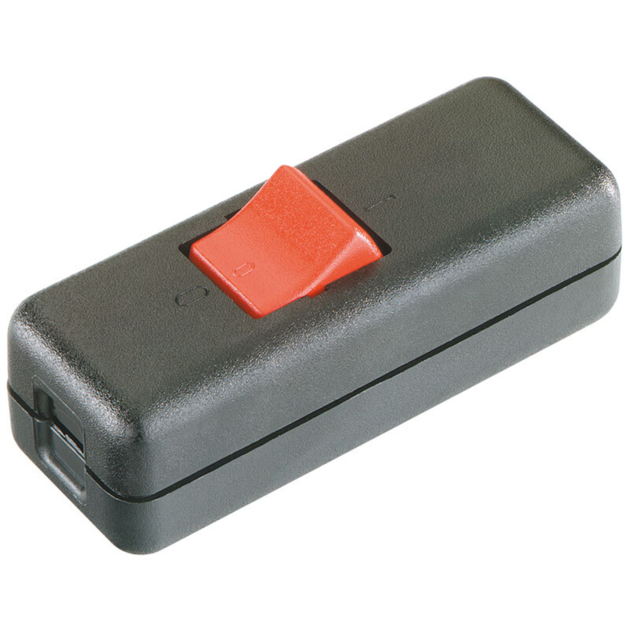 Schnur-Zwischenschalter- 230V- 10A- Aussschalter- 2-polig- schwarz-rot