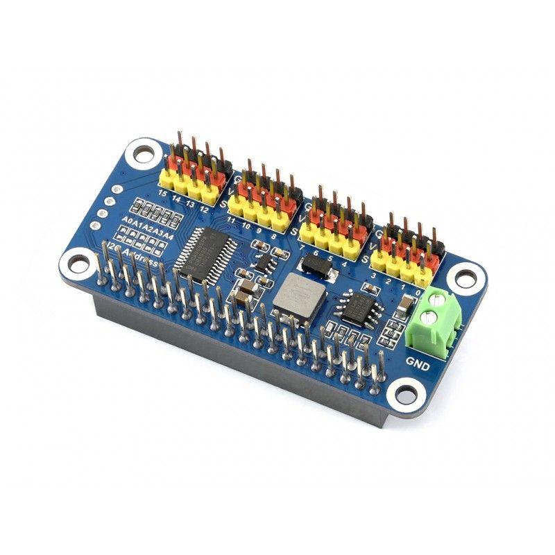 Servo Driver Hat für Raspberry Pi 16 Kanäle 12-bit- I2C