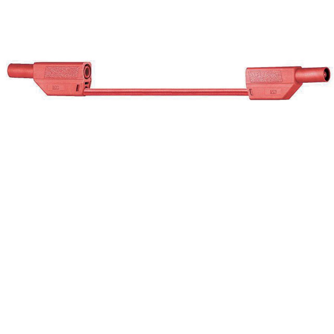 Sicherheitsmessleitungen in Silikon (SLK410-E-SIL) 4mm- 19A- 2m- rot