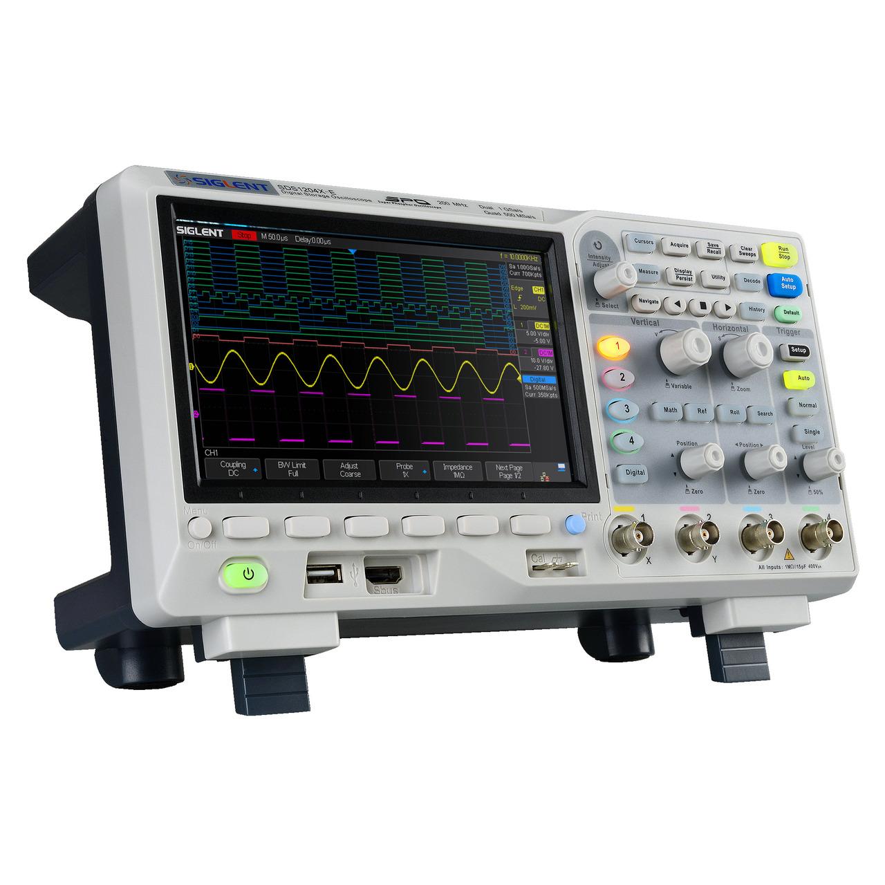 Siglent Oszilloskop SDS1204X-E- 4 Kanäle- BUS-Dekodierer- 14 Mpts Speichertiefe