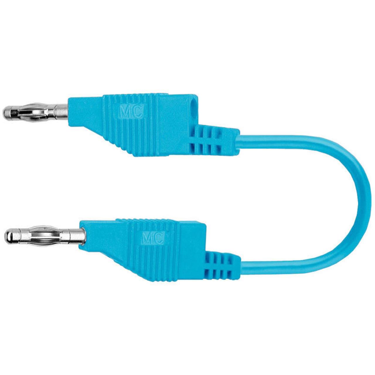 Silikon-Verbindungsleitungen 4 mm- 15A- 1m- blau