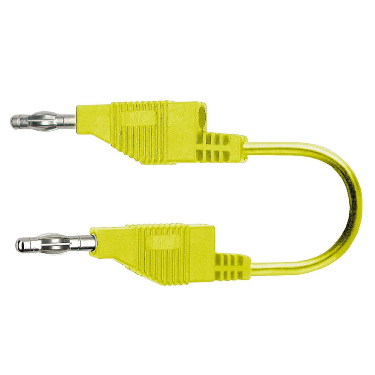 Silikon-Verbindungsleitungen 4 mm- 15A- 1m- gelb