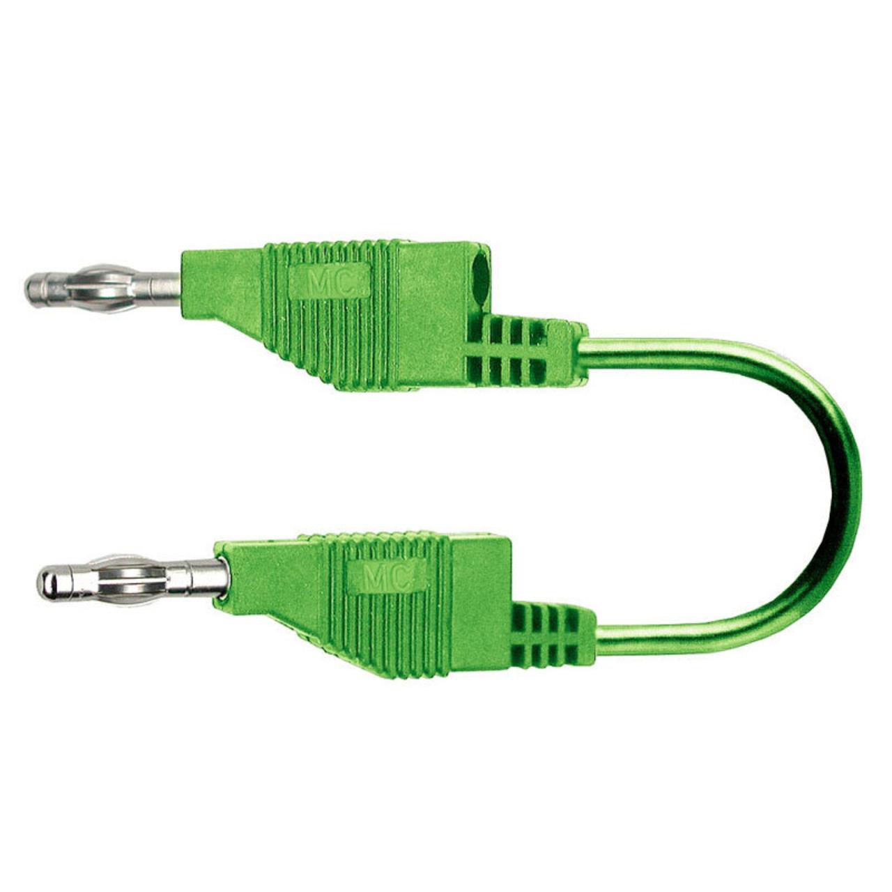 Silikon-Verbindungsleitungen 4 mm- 15A- 1m- grün