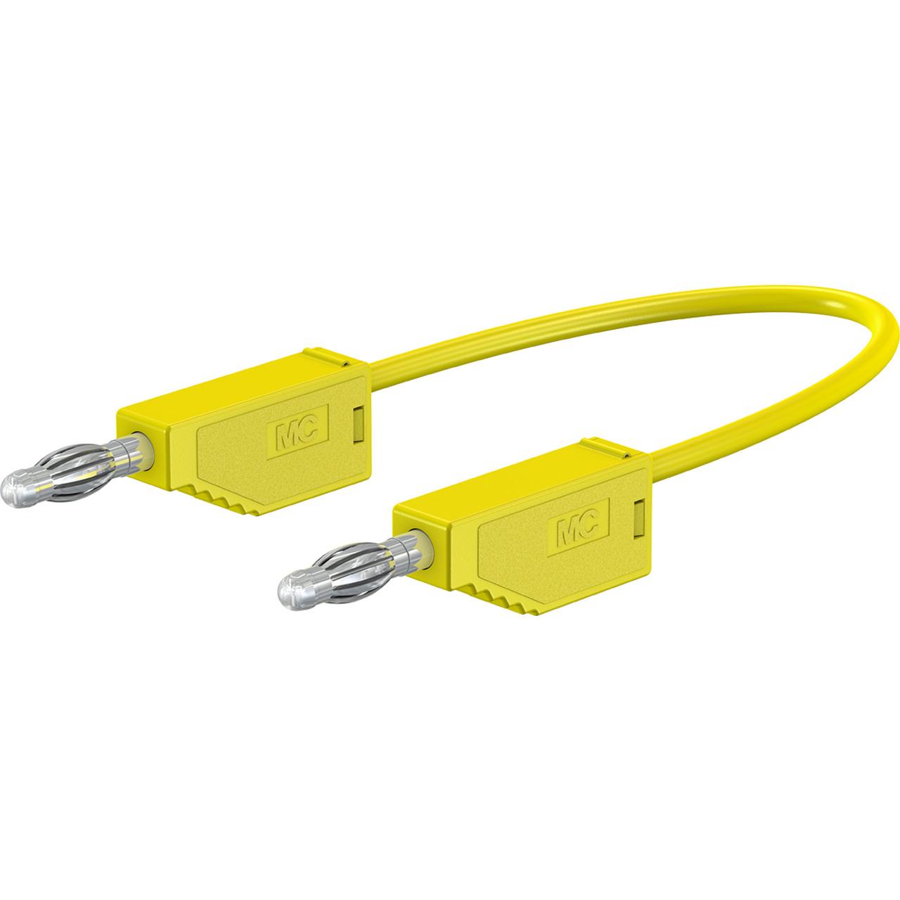 Silikon-Verbindungsleitungen LK425-A-SIL 4 mm- 30A- 0-5m- gelb