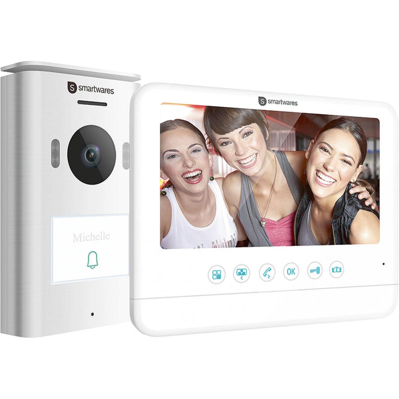 Smartwares 2-Draht-Video-Türsprechanlage für 1-Familienhaus mit 17-78-cm-Bildschirm