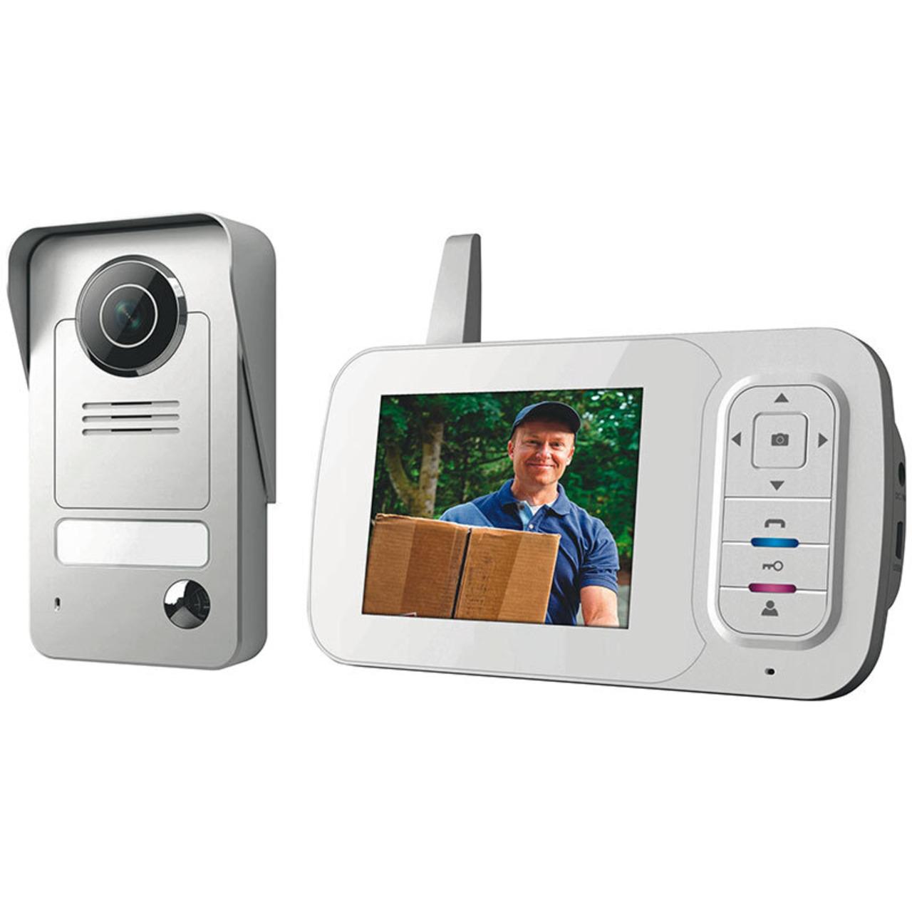 Smartwares VD38W Funk-Video-Türsprechanlage mit Bildspeicherfunktion