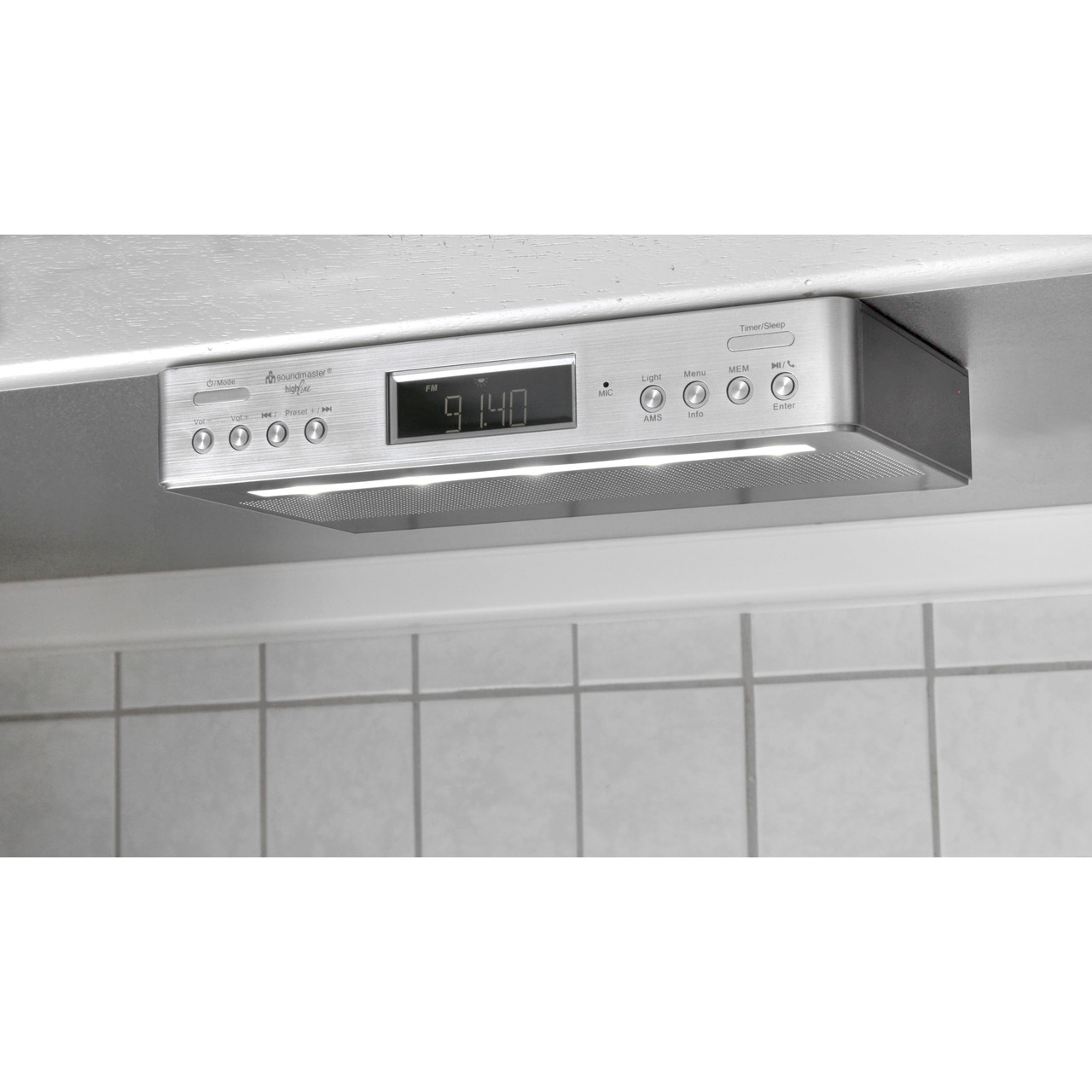 Soundmaster Kund-252 chen-Unterbauradio UR2045 SI- UKW-DAB+- mit Bluetooth-Funktion und Kund-252 chentimer