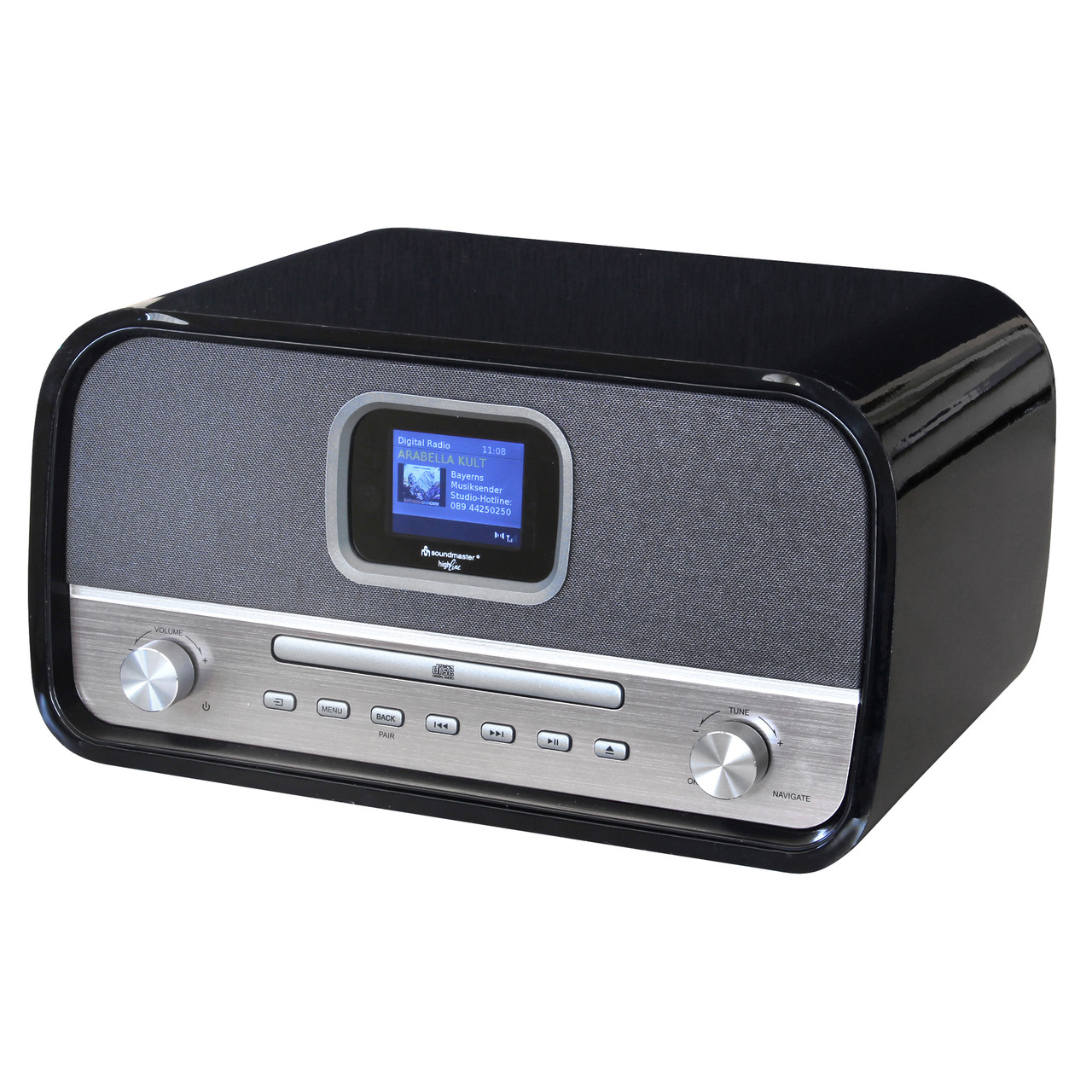 Soundmaster Stereo-Musikcenter DAB970SW- DAB+-UKW- Bluetooth- CD-Player- 30-W-RMS