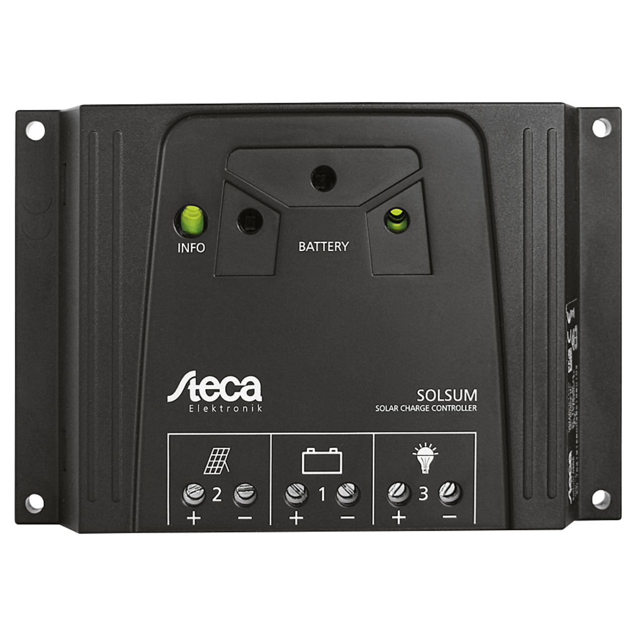 Steca Elektronik Solarladeregler 6-6F 12-24V- 6A- LED-Anzeige