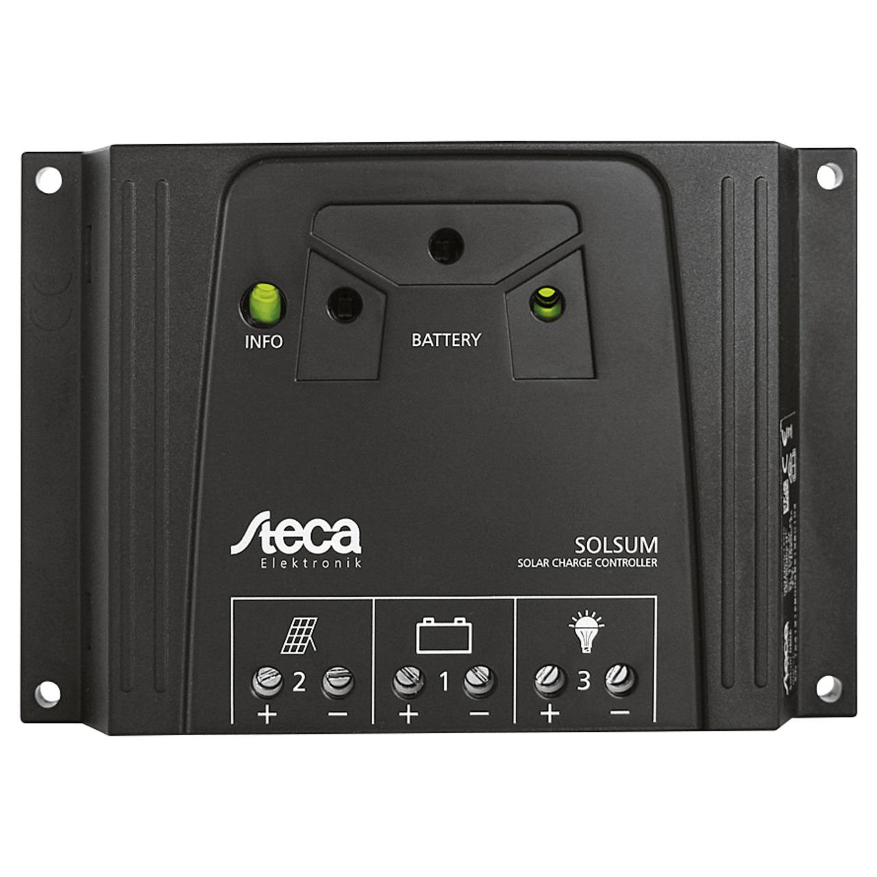Steca Elektronik Solarladeregler 8-8F 12-24V- 8A- LED-Anzeige